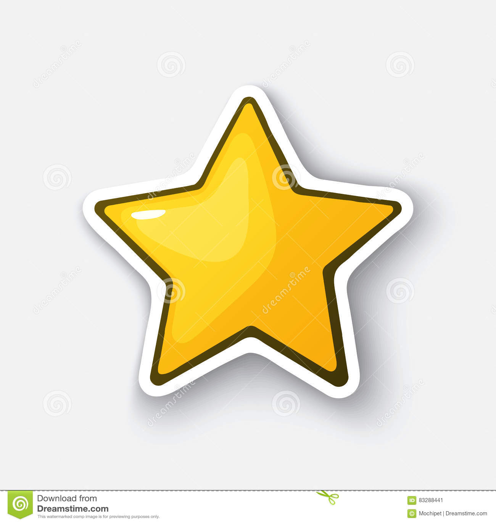 Stjärna Tecknad