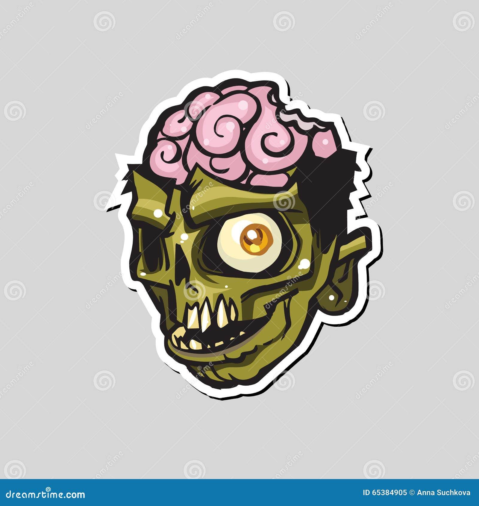 Tecknad filmlevande dödhuvud också vektor för coreldrawillustration