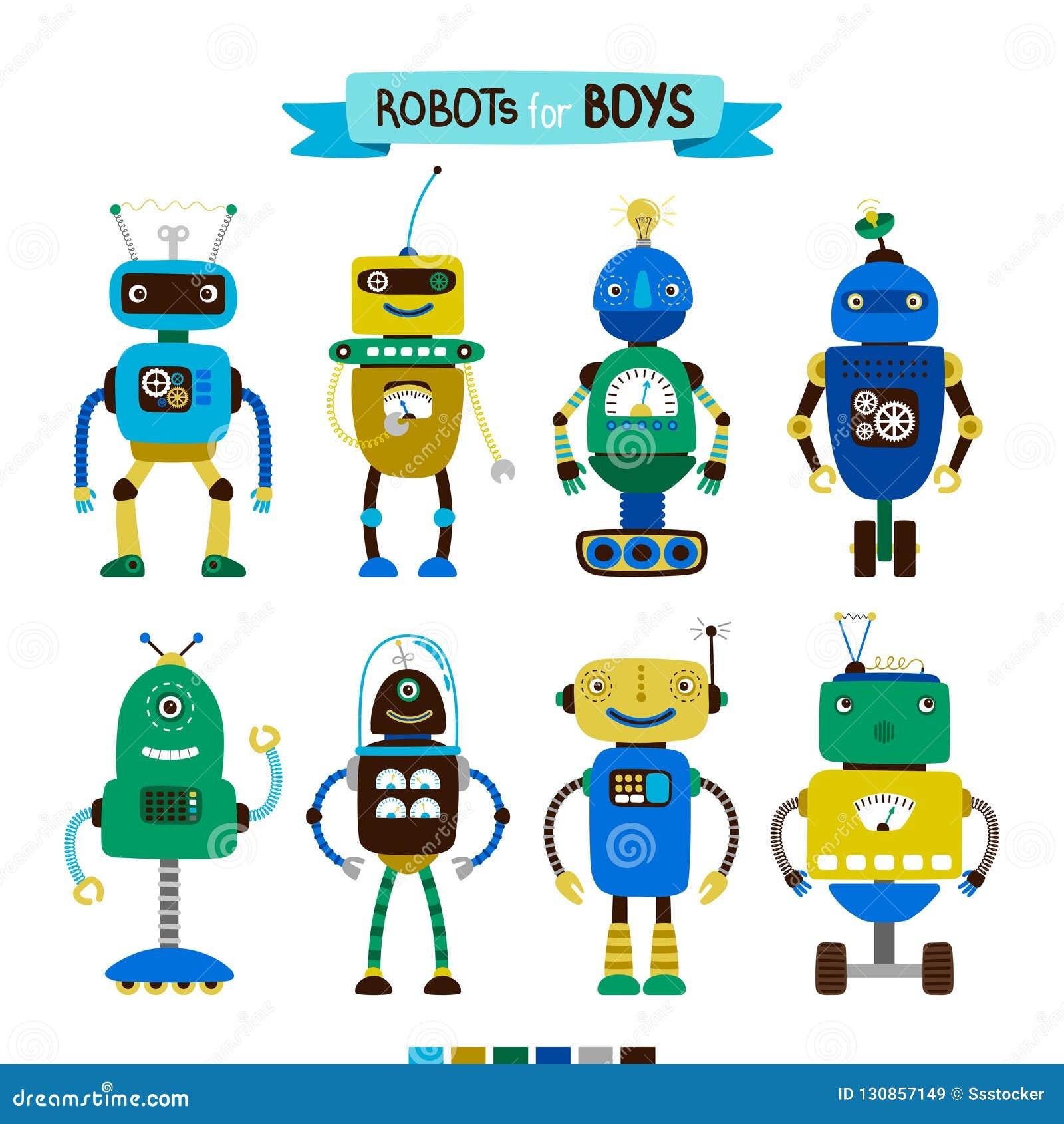 Tecknad filmrobotar ställde in för pojkar