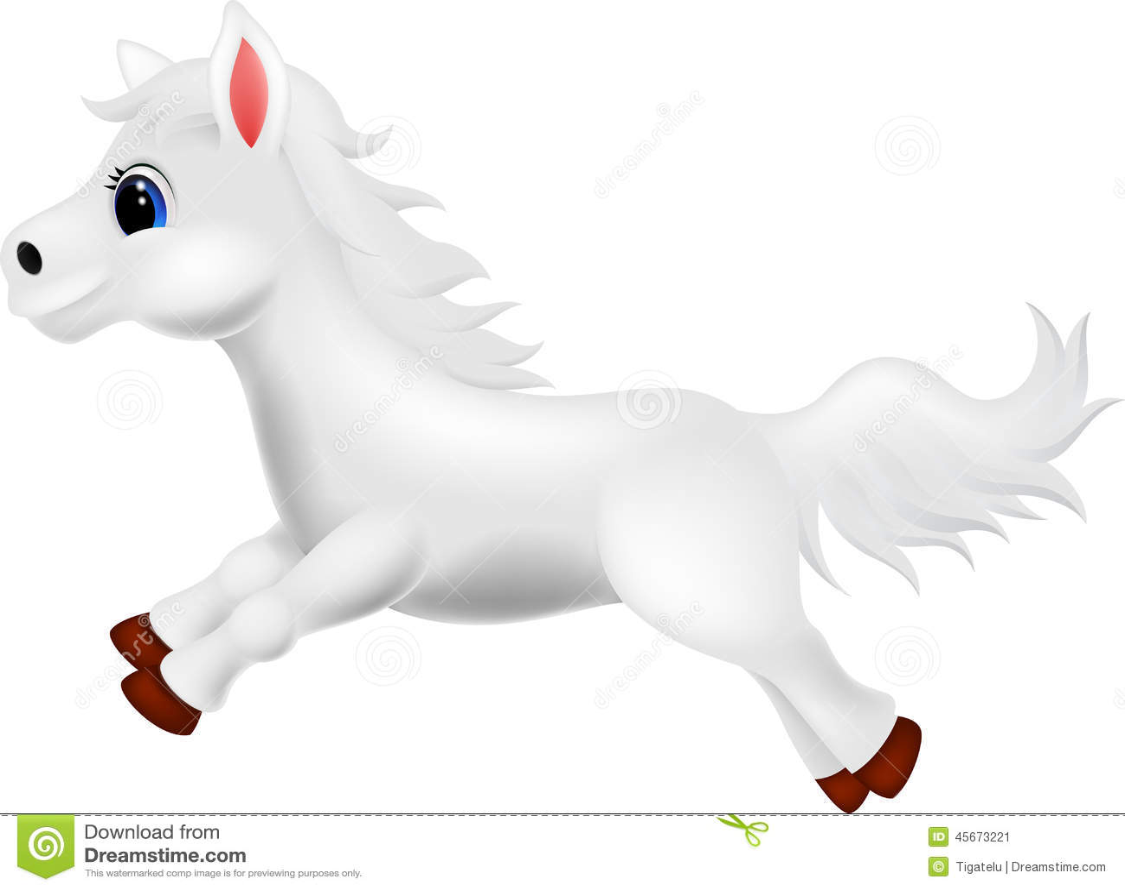 häst tecknad