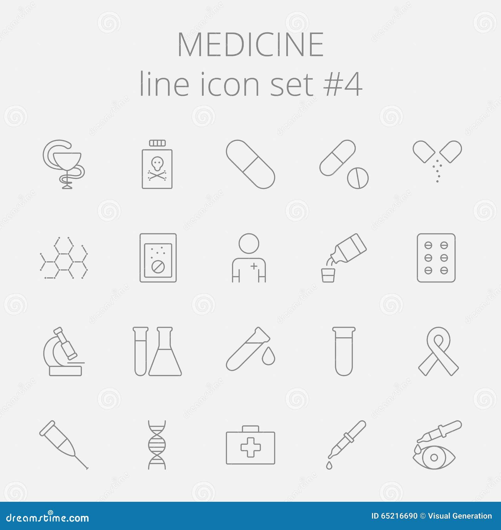 Tecknad white för vektor för medicin för handsymbolsillustration set