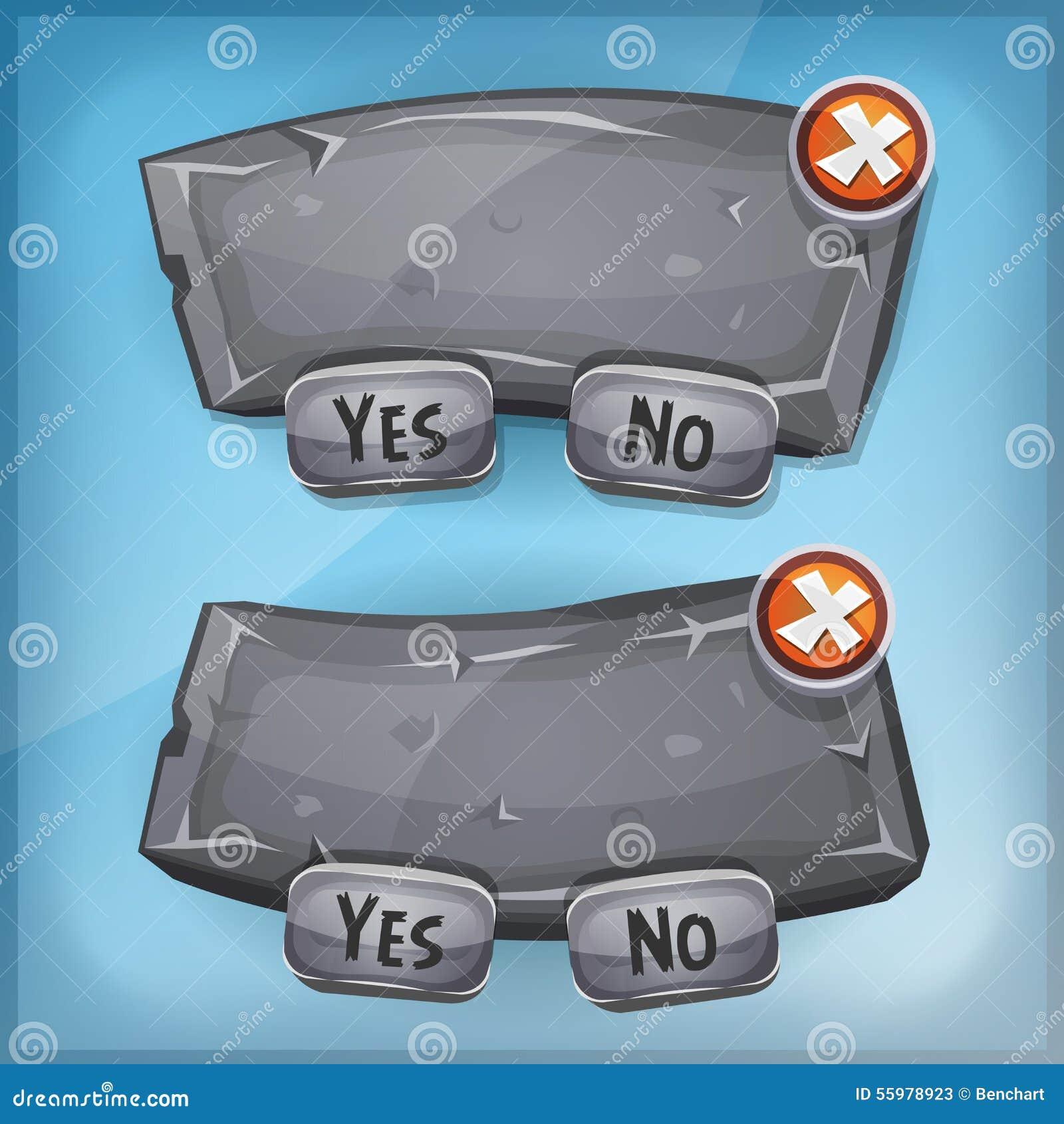 Tecknade filmen vaggar och stenar överenskommelsepanelen för den Ui leken