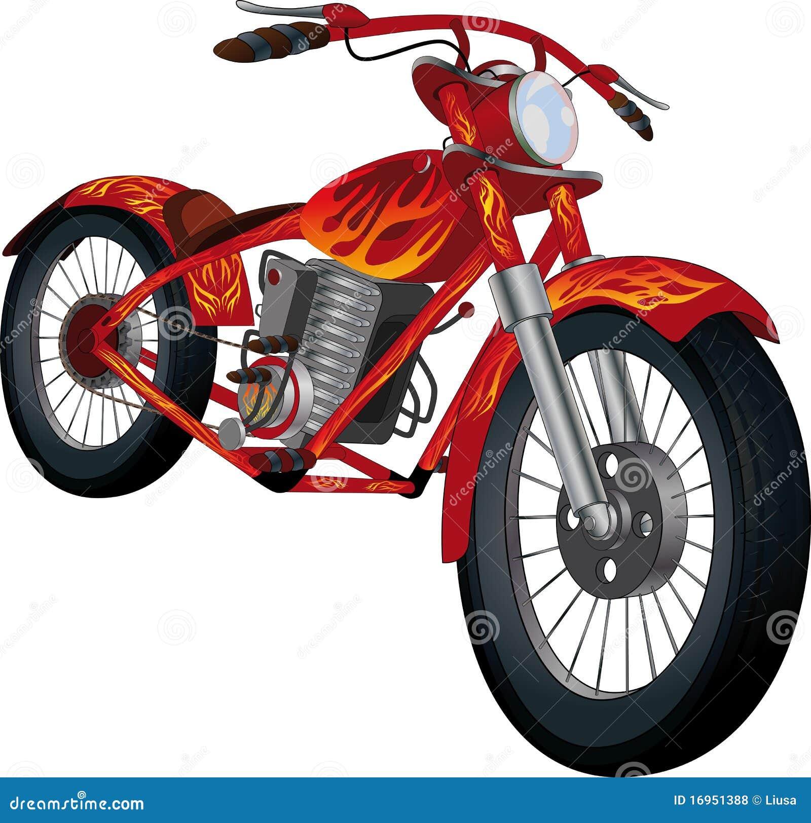 Tecknande brännhet motorcykelred