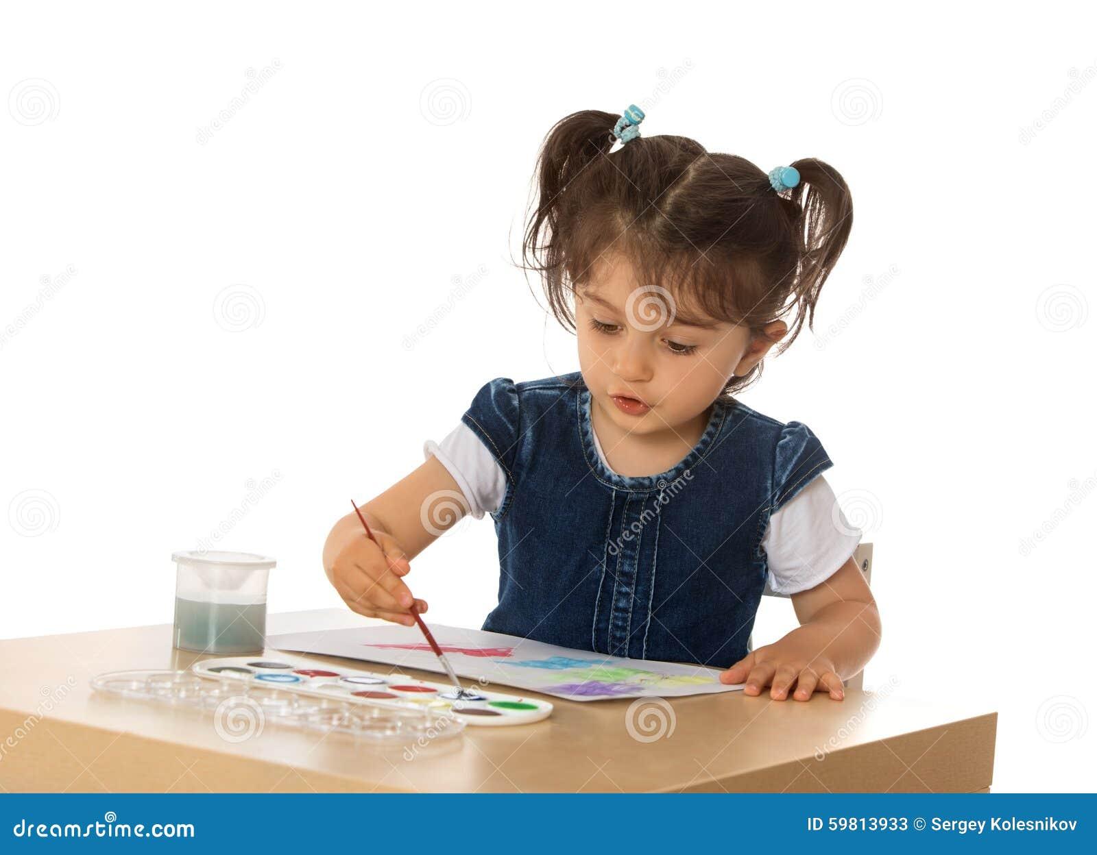 Tecknar flickan little