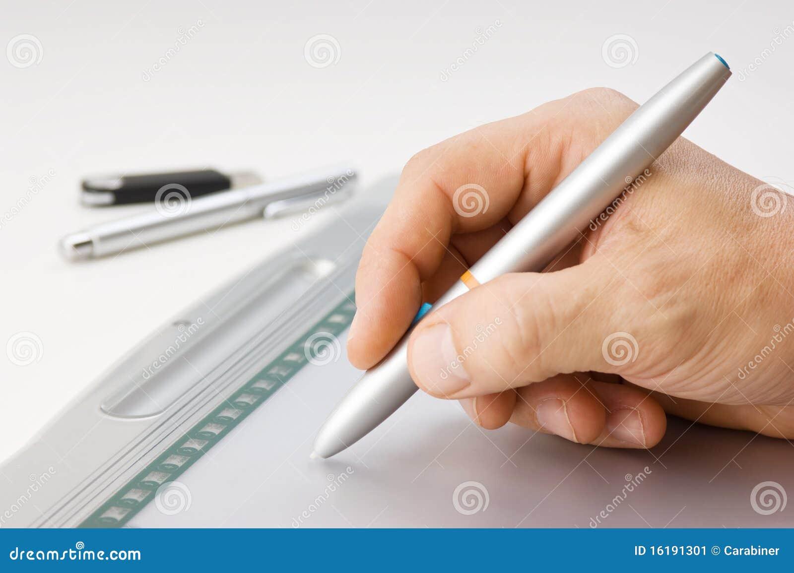 Tecknar handmän s