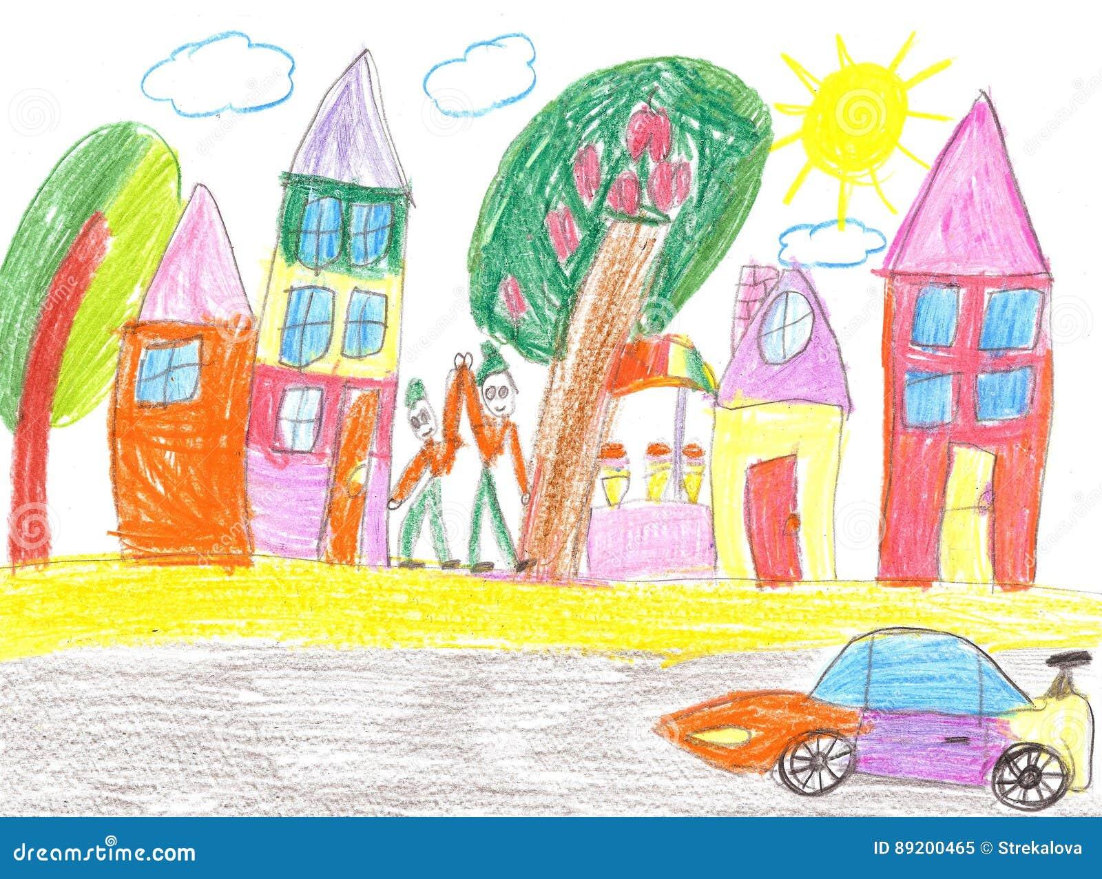 Teckning för barn` s av bilen