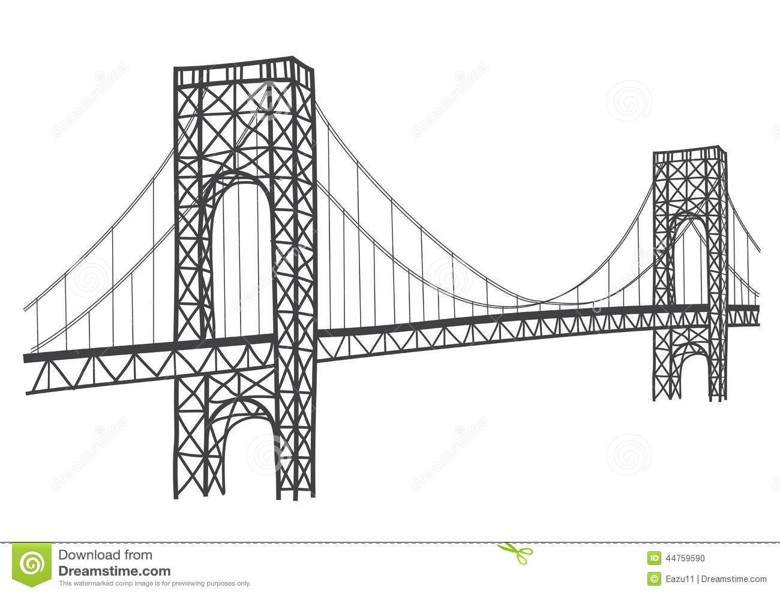 Teckning för George Washington bro