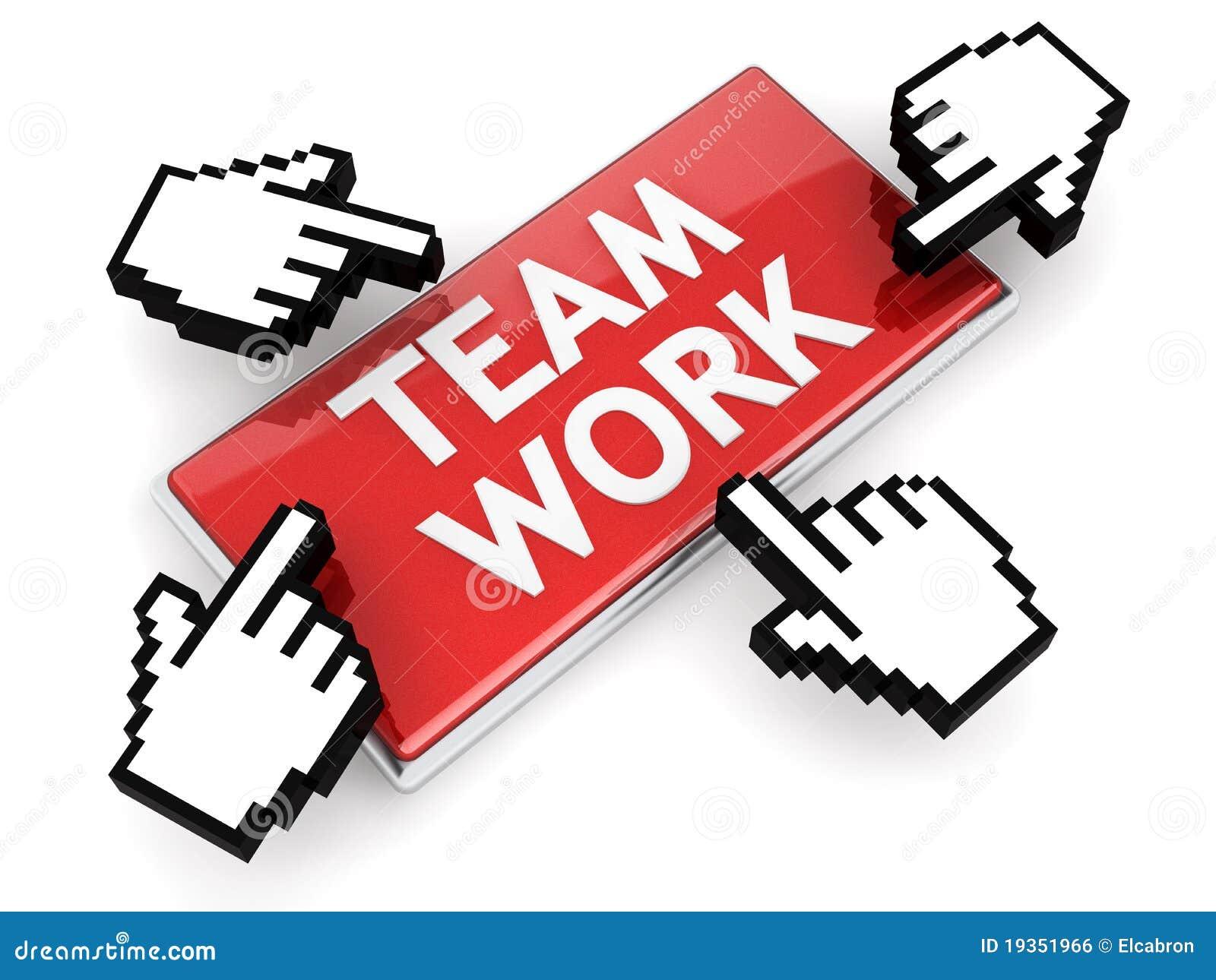 Tecla da rede do trabalho da equipe