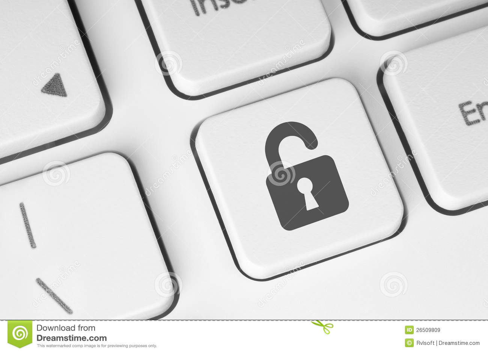 Tecla de fechamento aberto no teclado