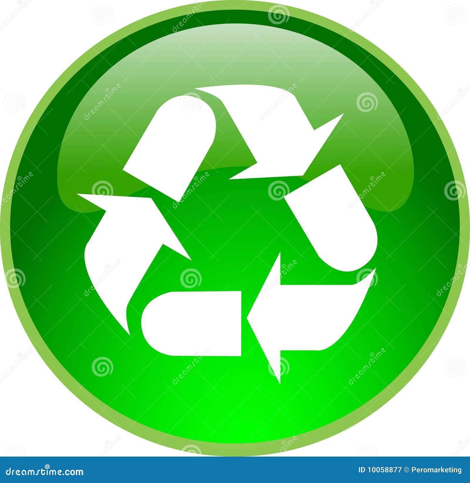 Tecla de recicl verde