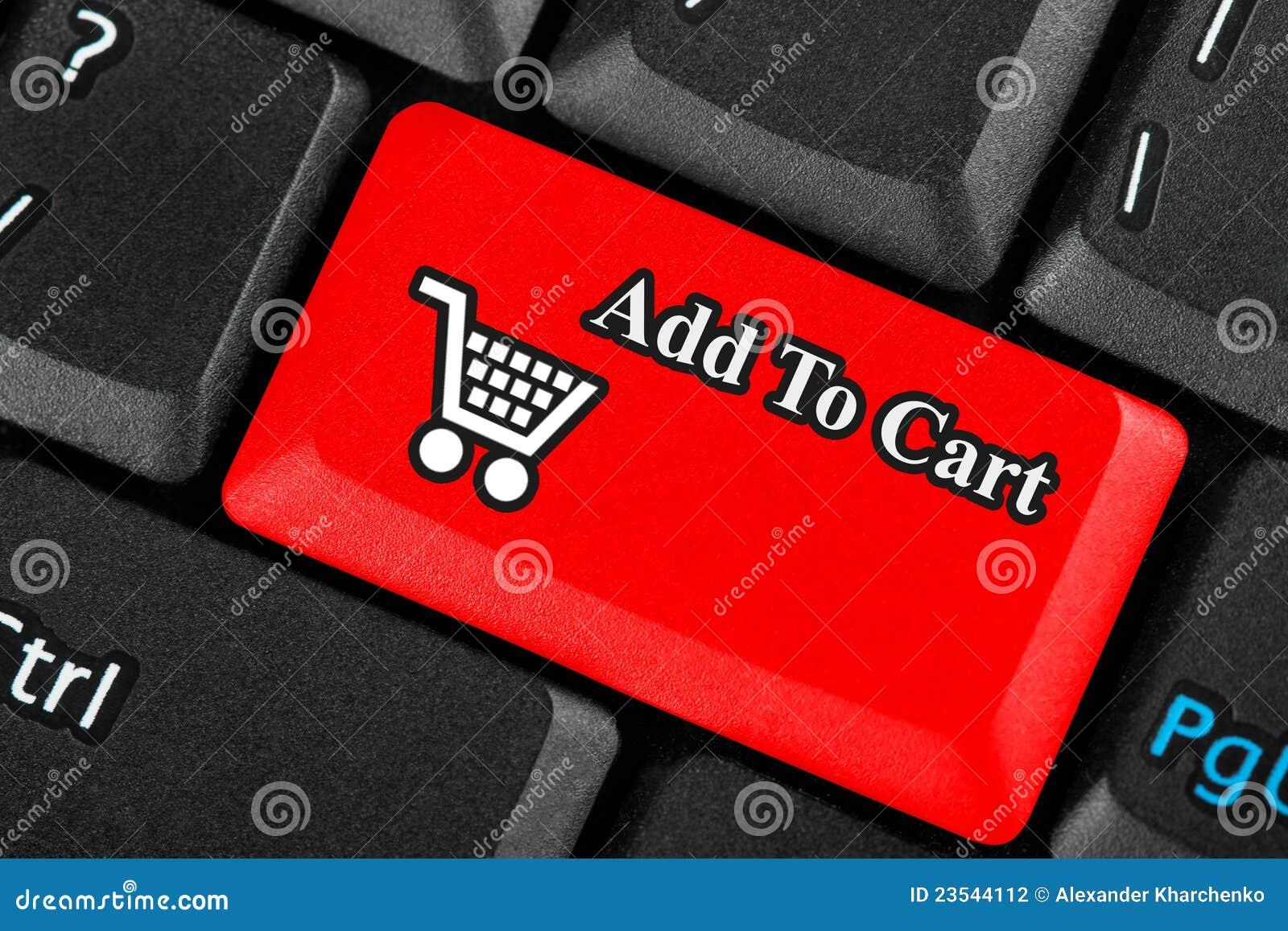 Tecla do ícone do carro de compra