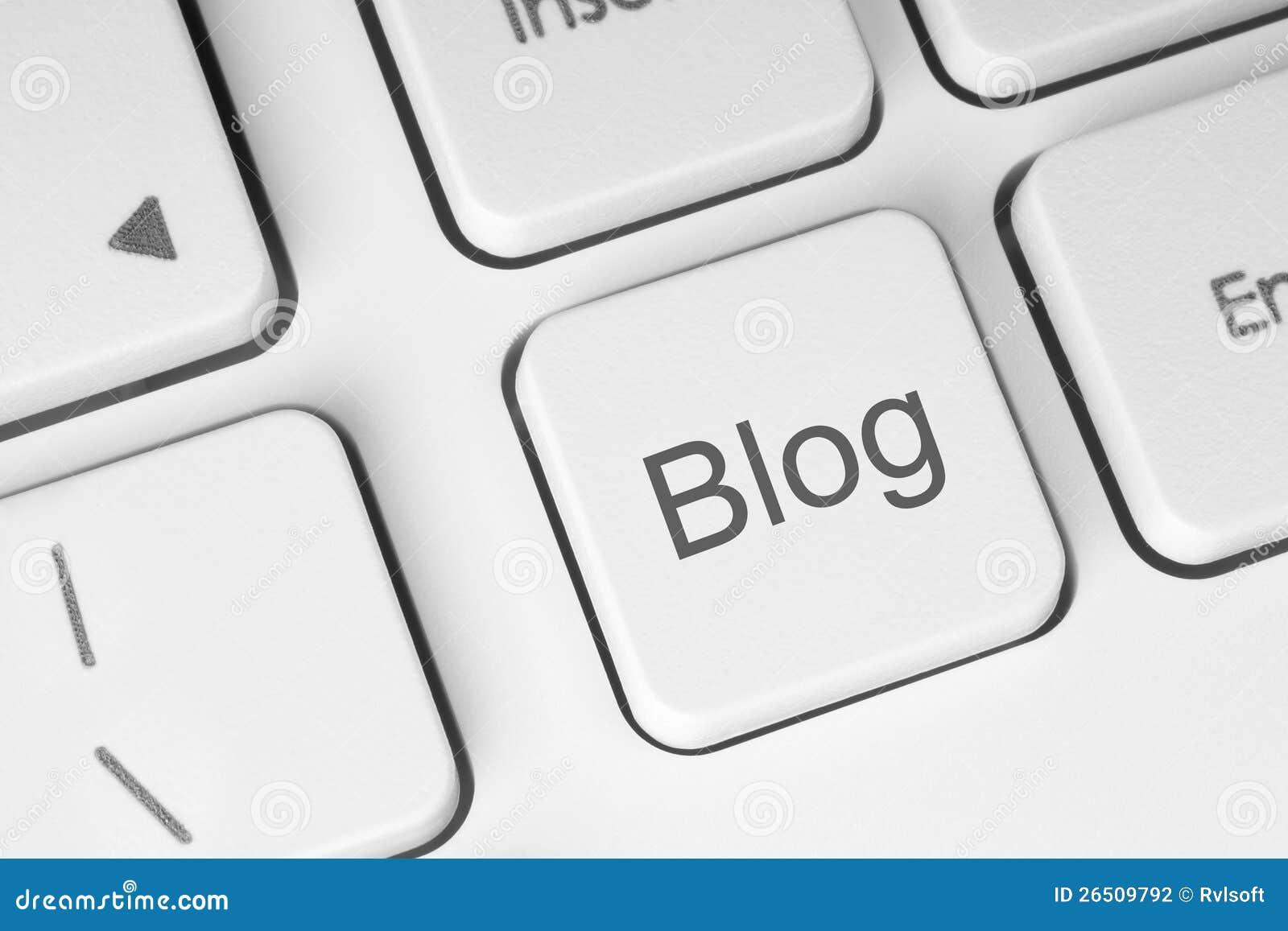 Tecla do blogue no teclado
