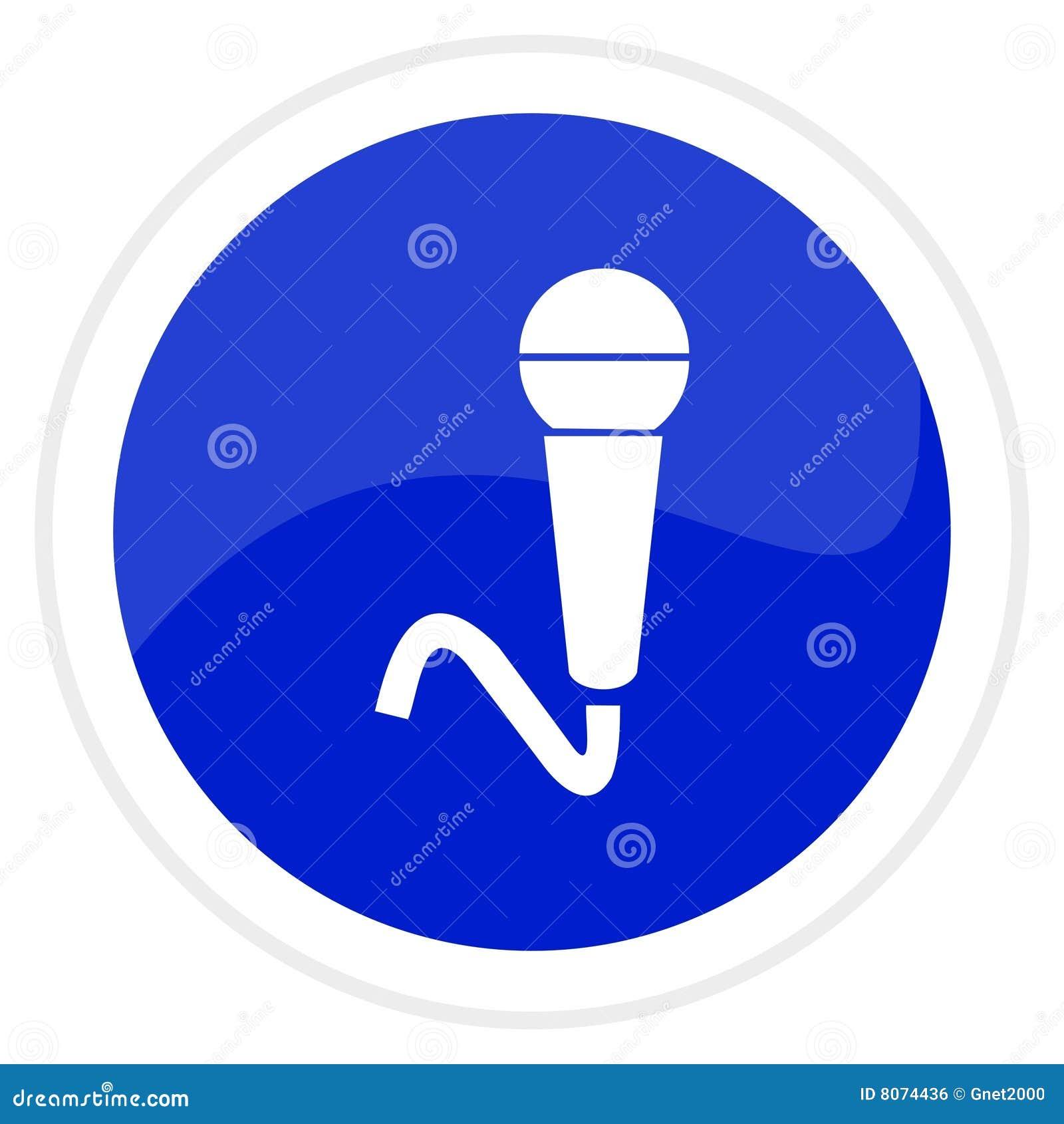 Tecla do Web do microfone