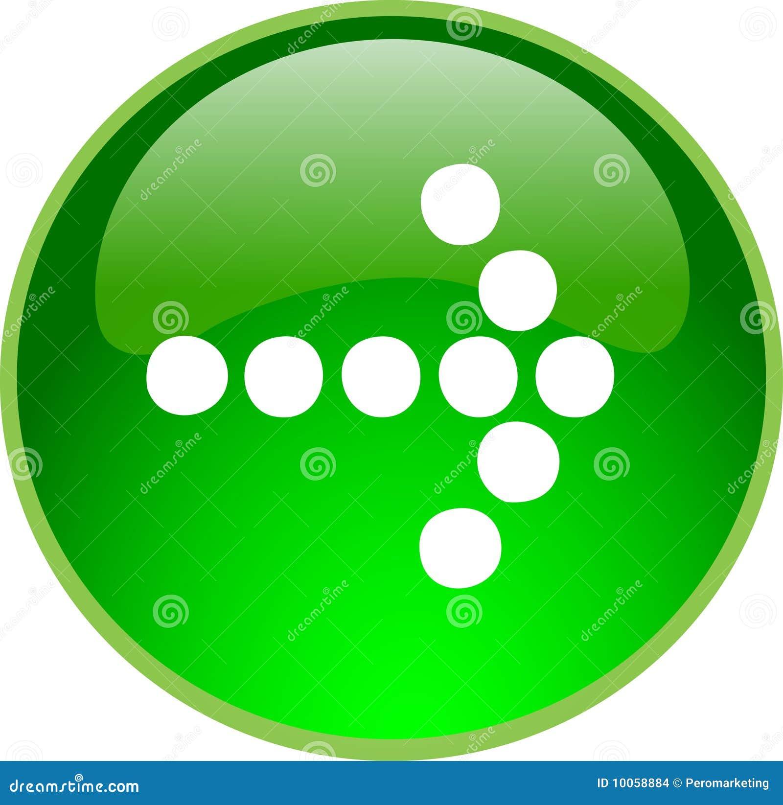 Tecla verde da seta