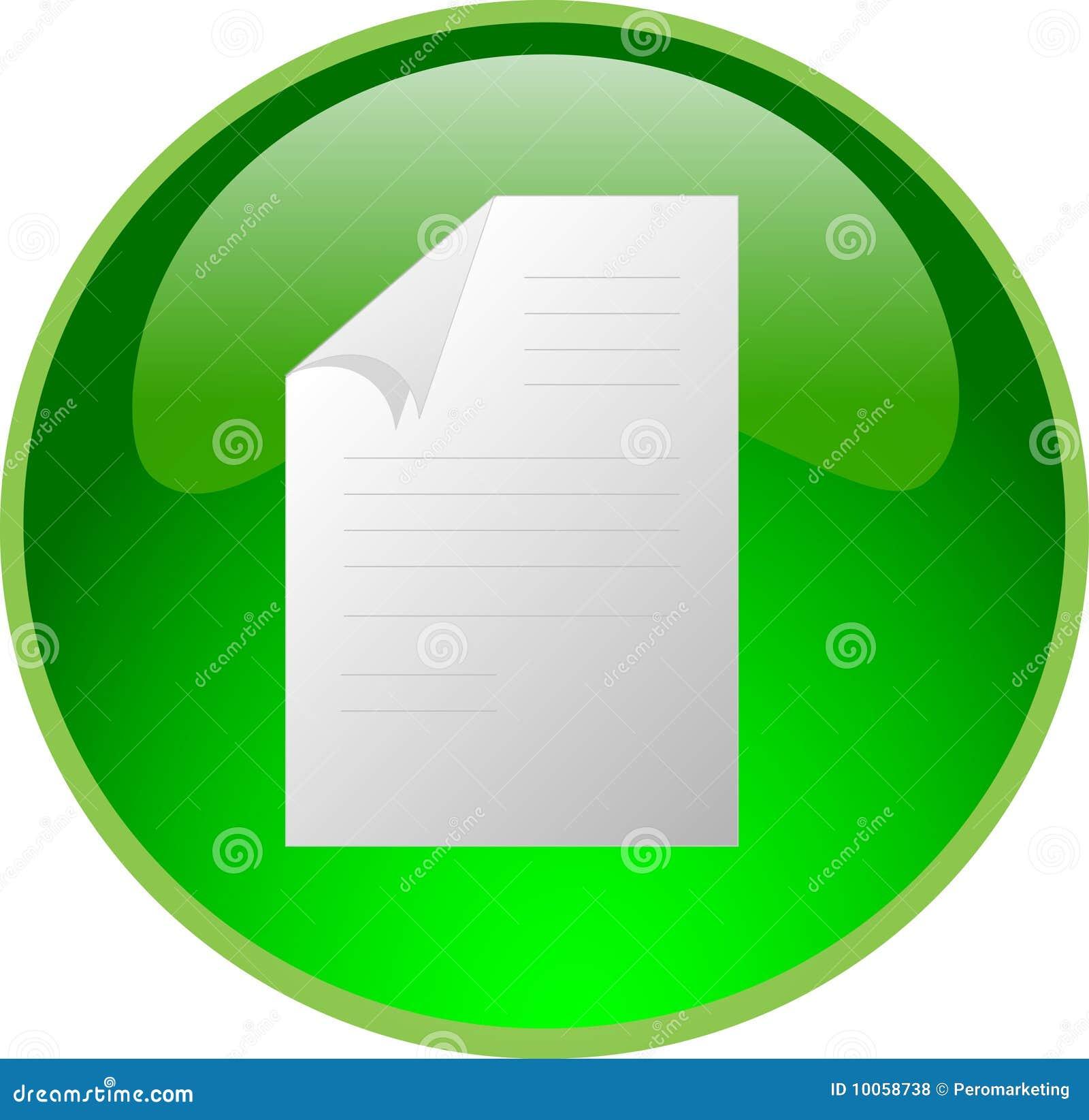 Tecla verde do arquivo