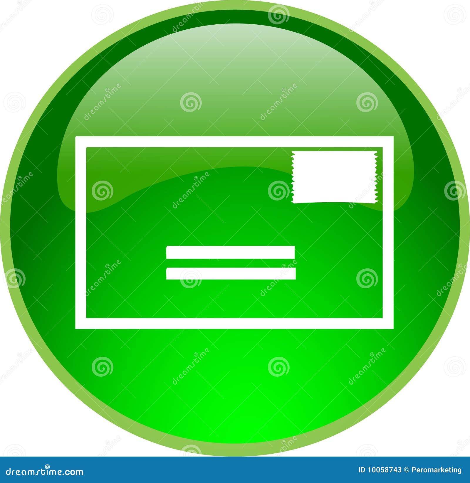 Tecla verde do email
