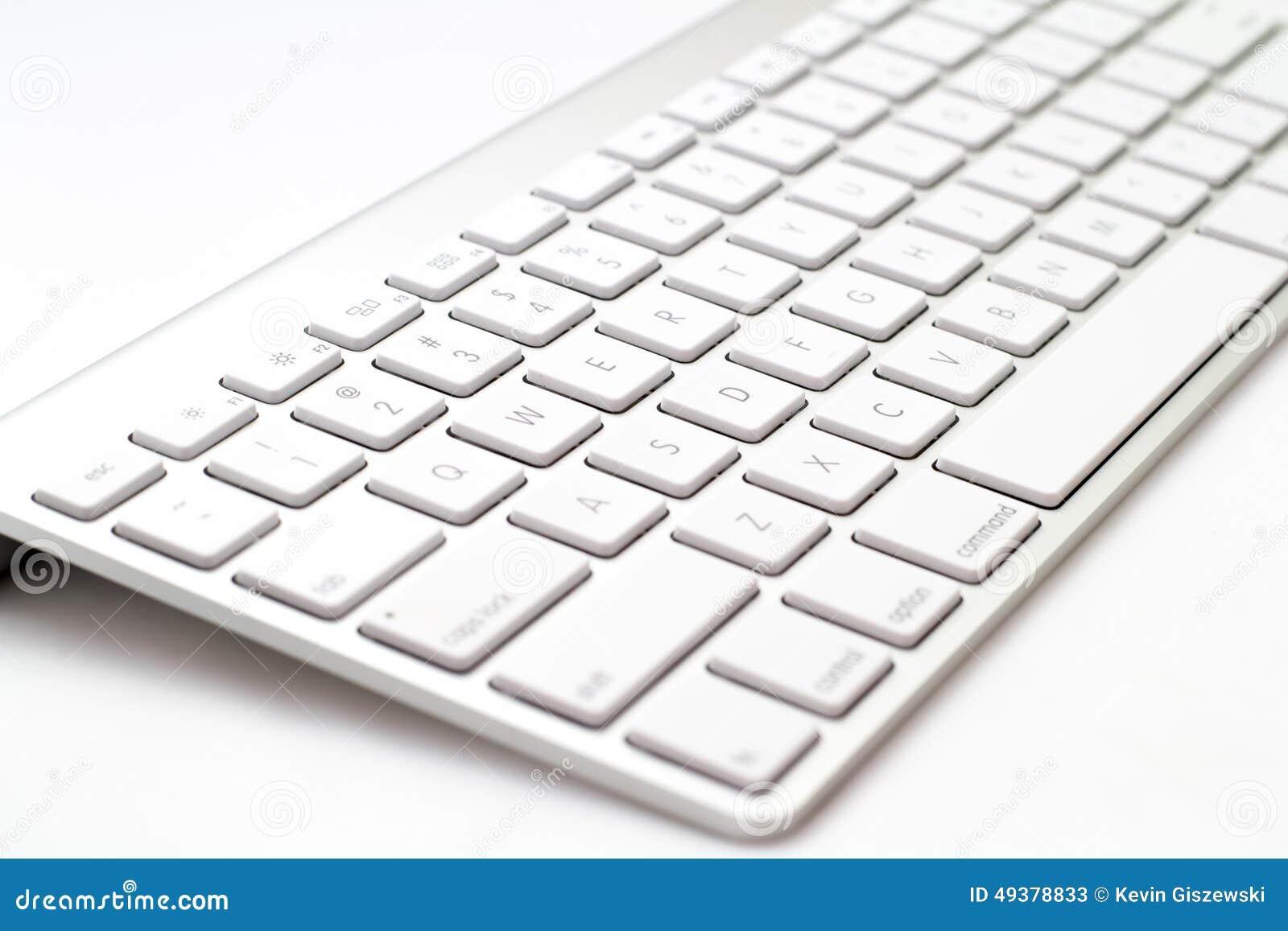 Teclado blanco imagen de archivo imagen de entre - Foto teclado ordenador ...