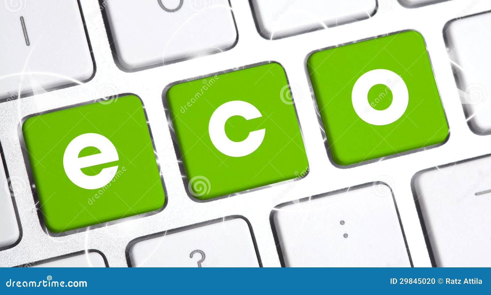Teclado com uma opção do eco