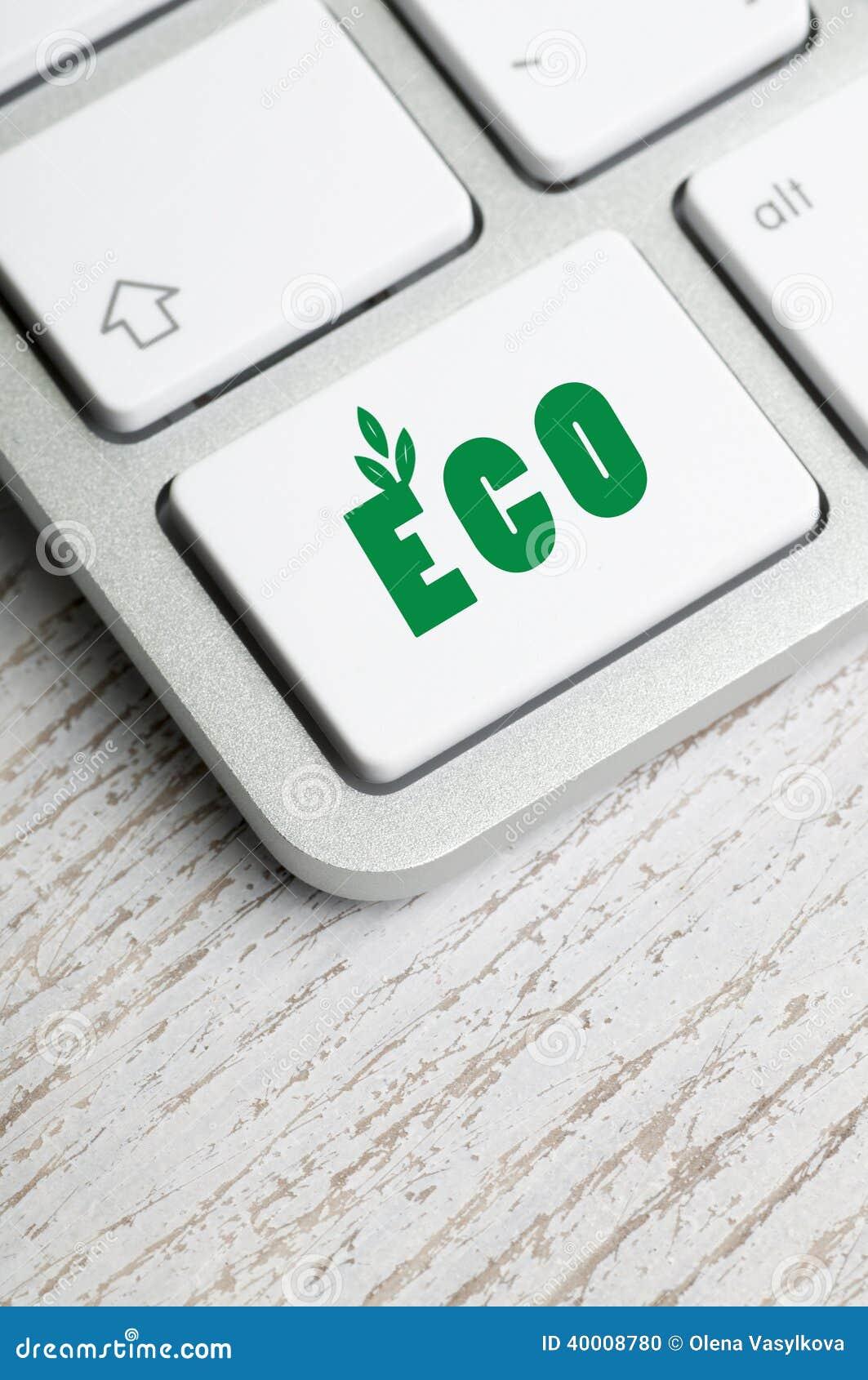 Teclado com botão de Eco