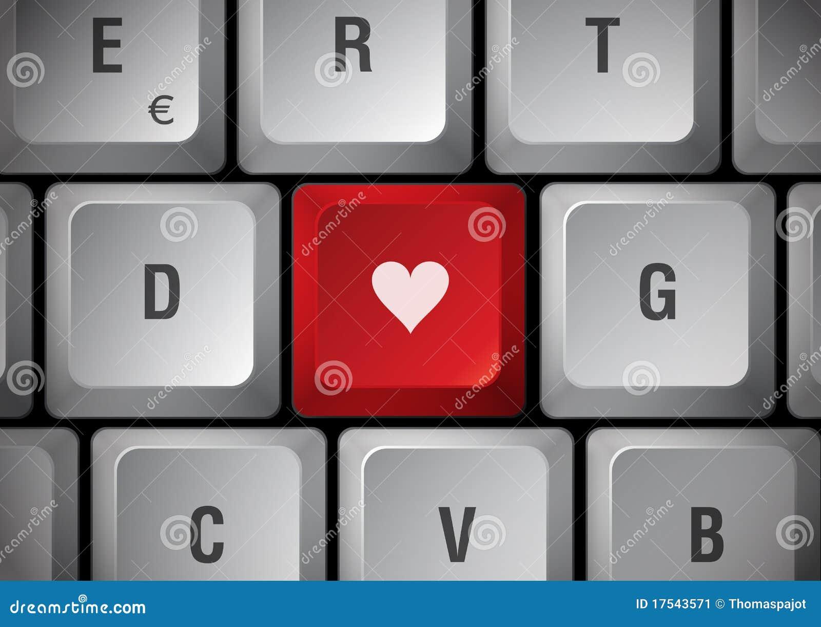 Teclado con el corazón