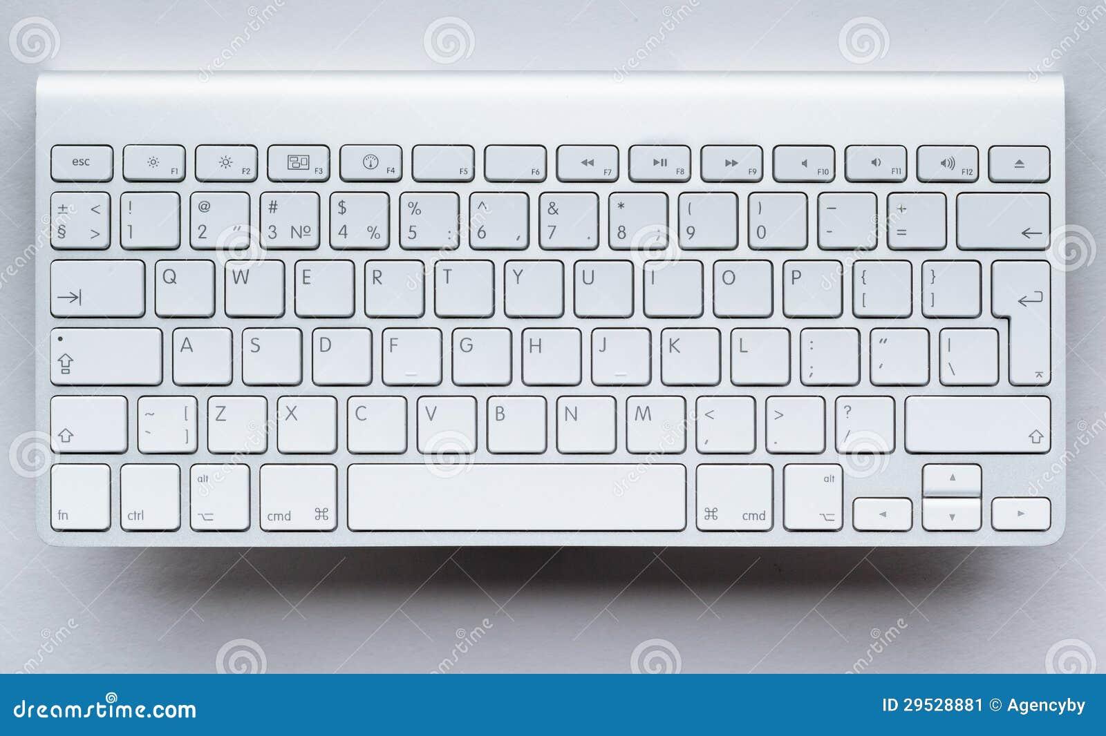 Teclado contemporâneo do computador