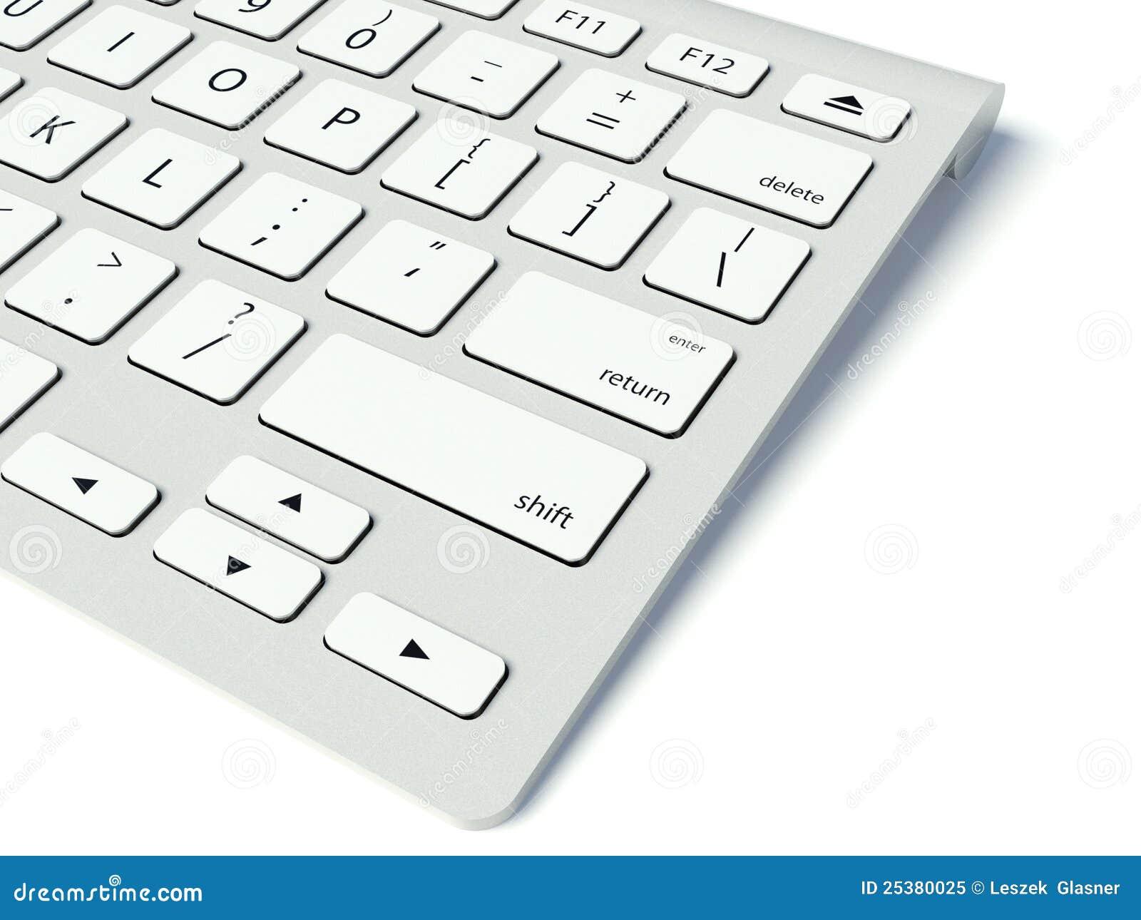Teclado de ordenador moderno foto de archivo libre de - Foto teclado ordenador ...