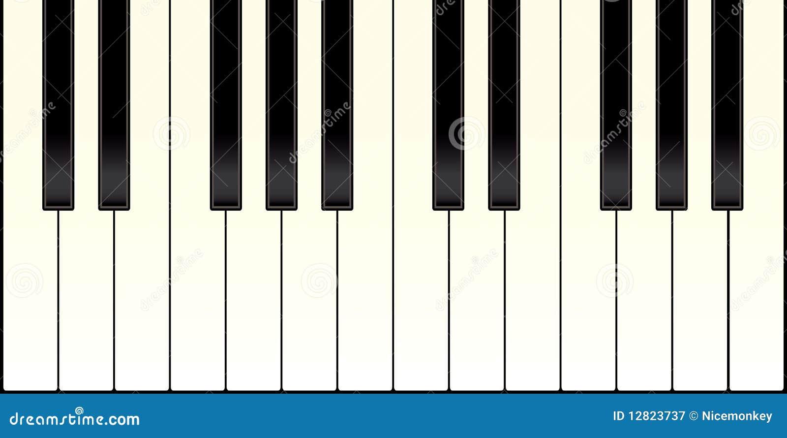 Teclado de piano ilustra o do vetor ilustra o de marfim for Disegno del piano online