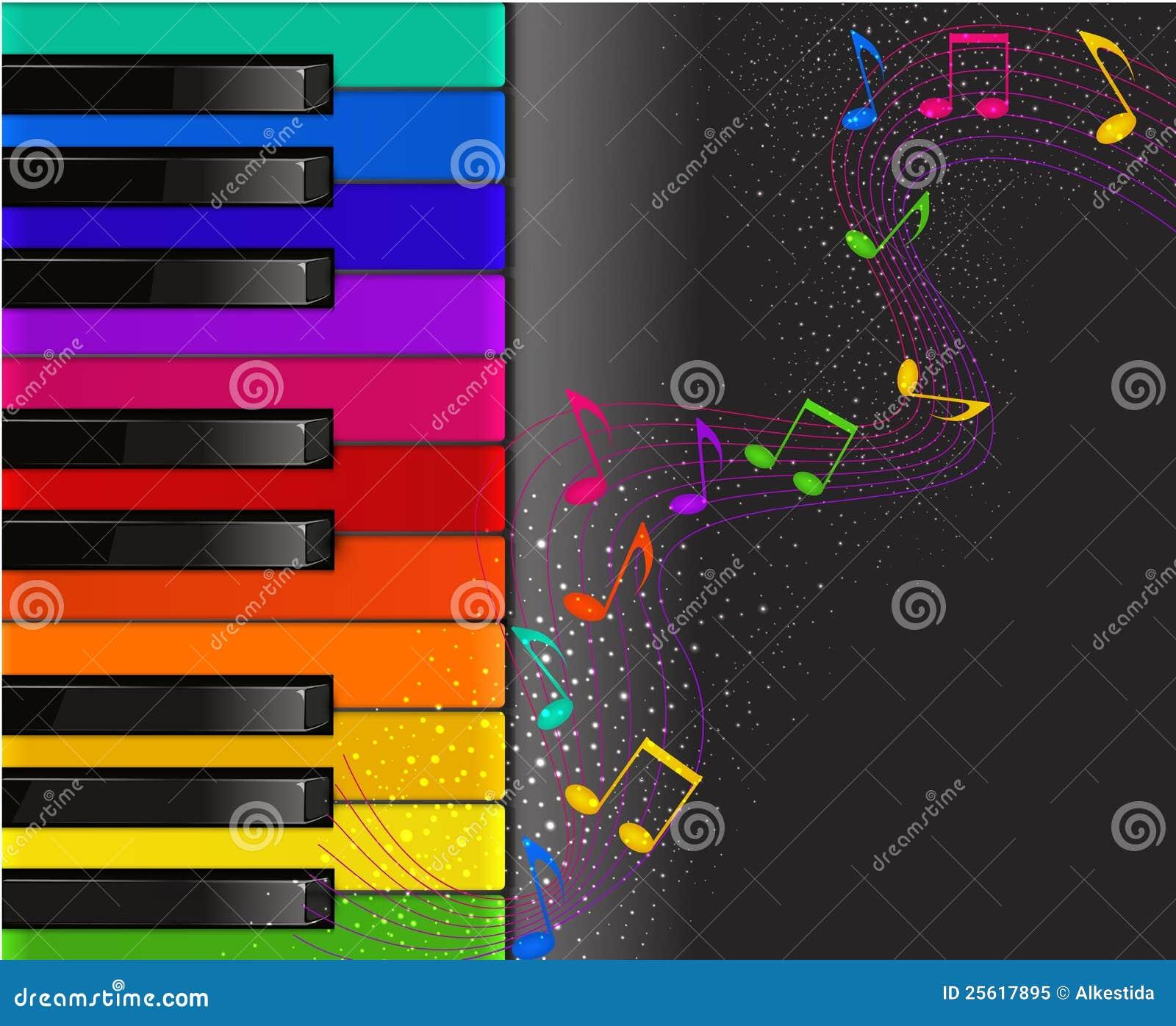 imagens colorida com fundo preto