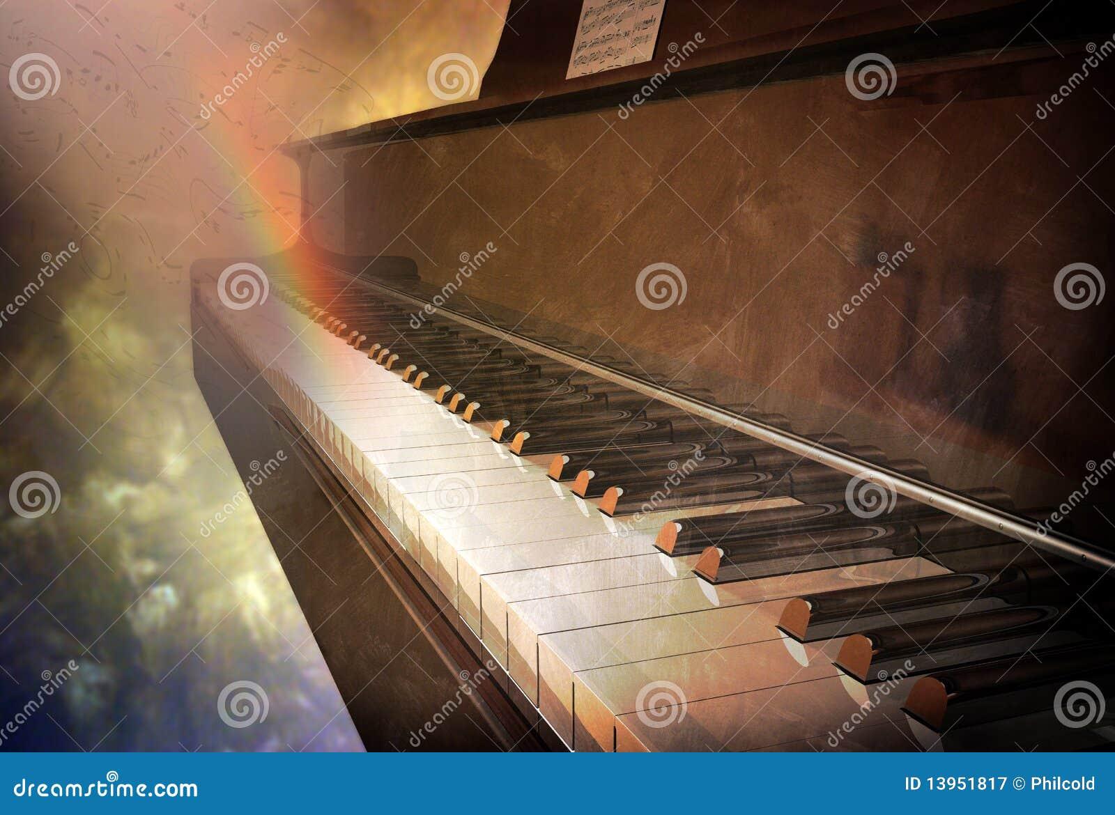 Teclado de piano do vintage