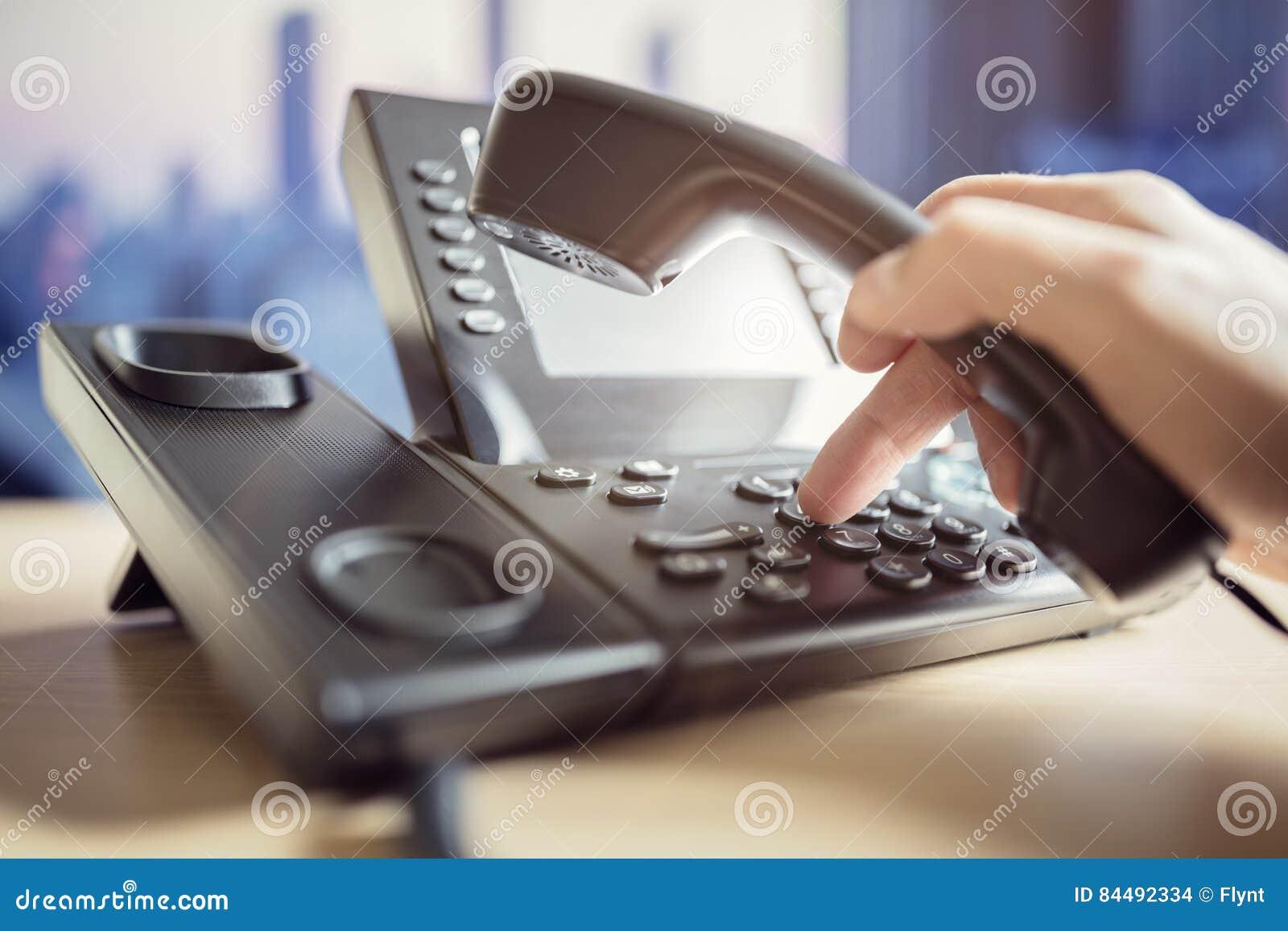 Teclado discado do telefone