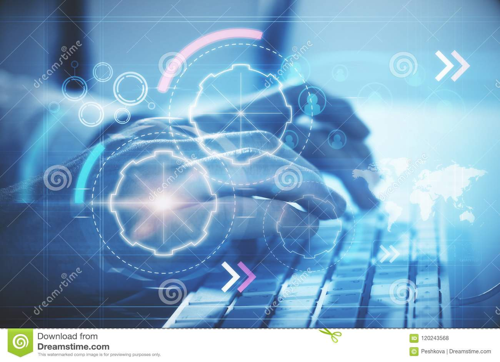 Teclado e Cyberspace digital