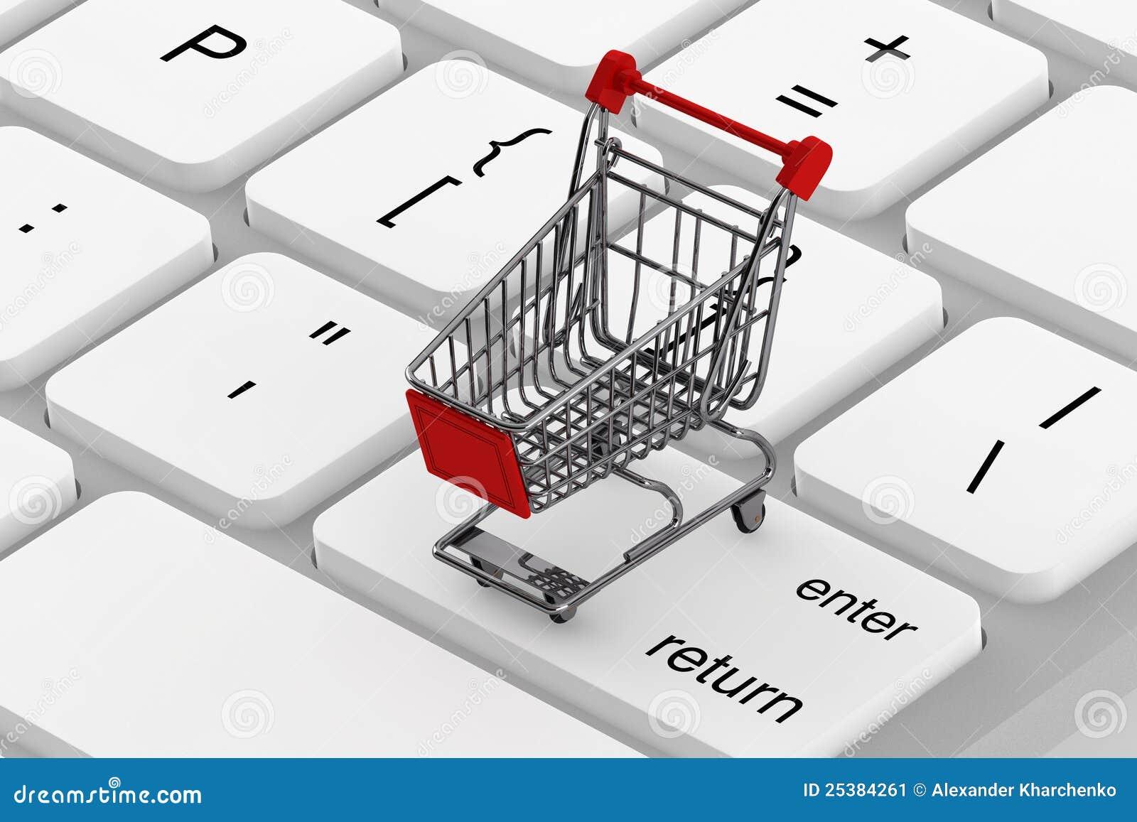 Teclado e um carro de compra imagem de stock imagem for Carro compra moderno
