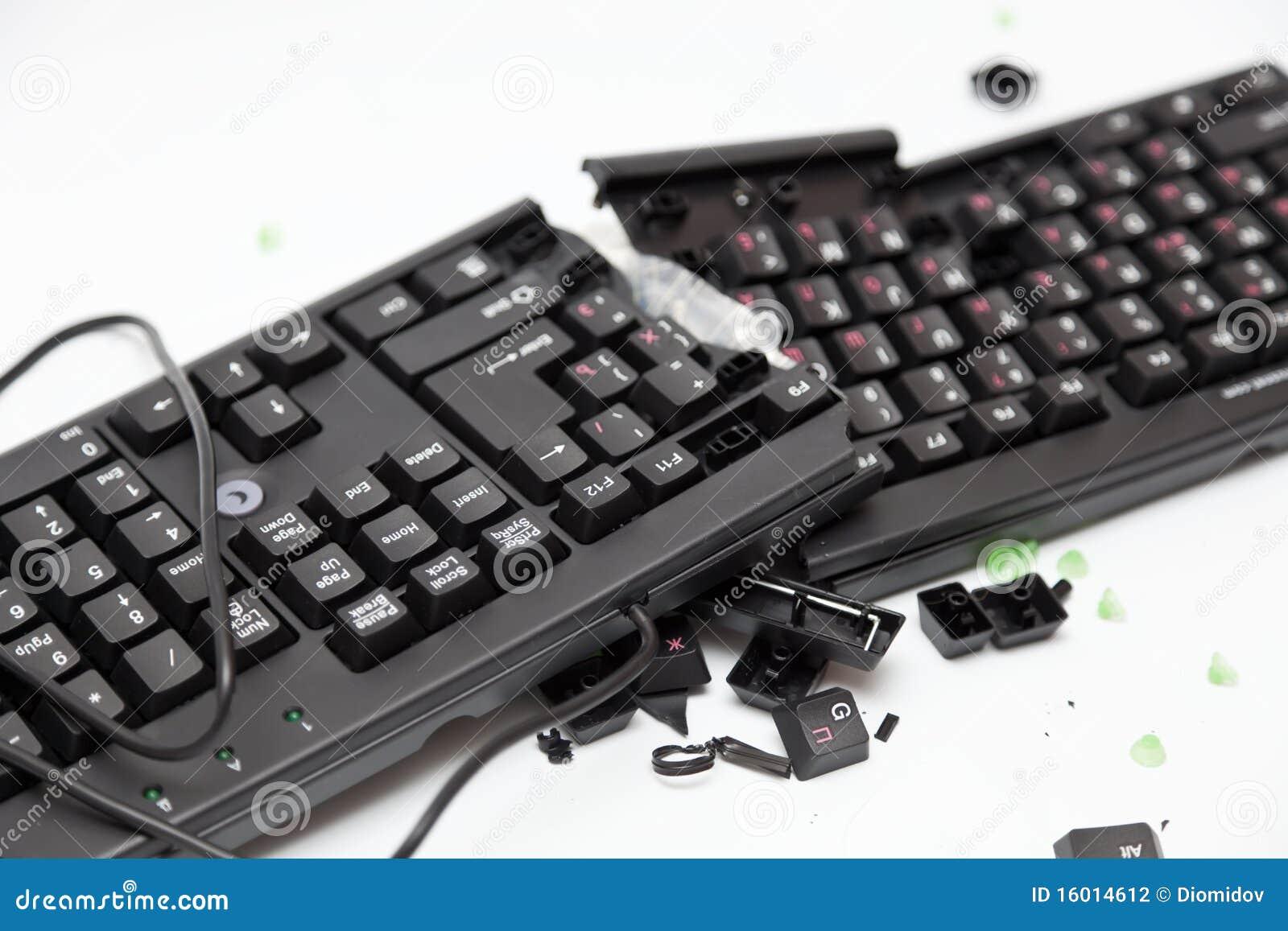 Teclado quebrado de la pc foto de archivo imagen de - Foto teclado ordenador ...
