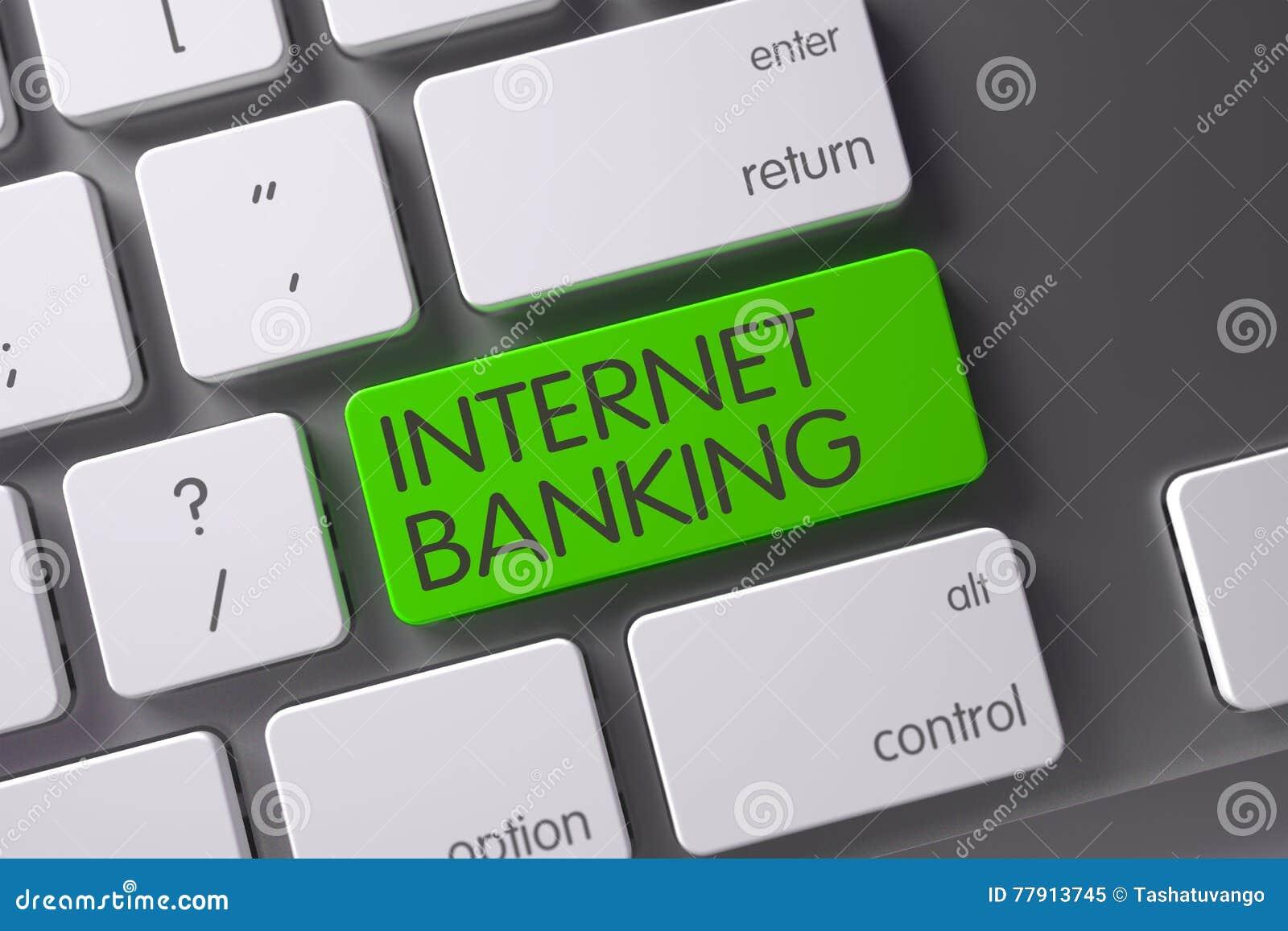 Teclado verde dos Internet banking no teclado 3d