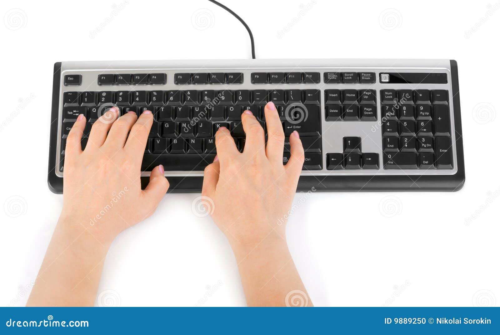 Teclado y manos de ordenador foto de archivo imagen 9889250 - Foto teclado ordenador ...