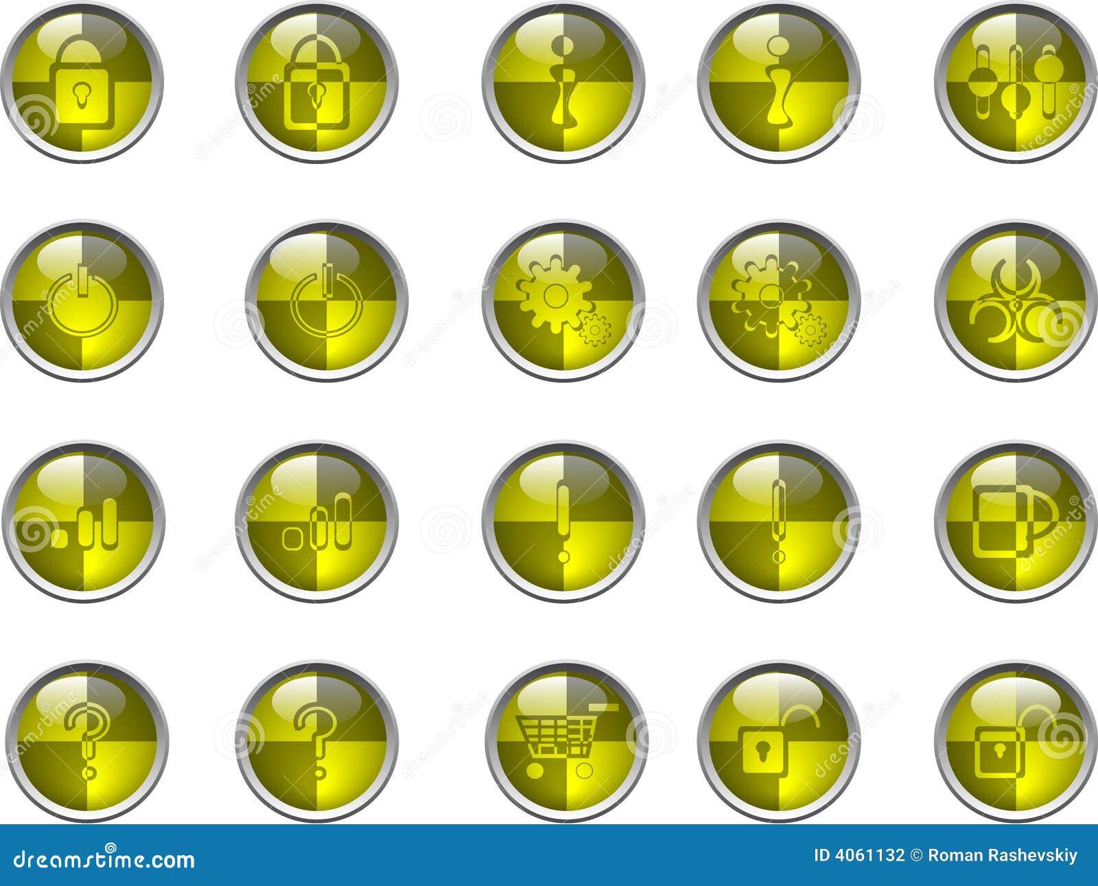 Teclas amarelas