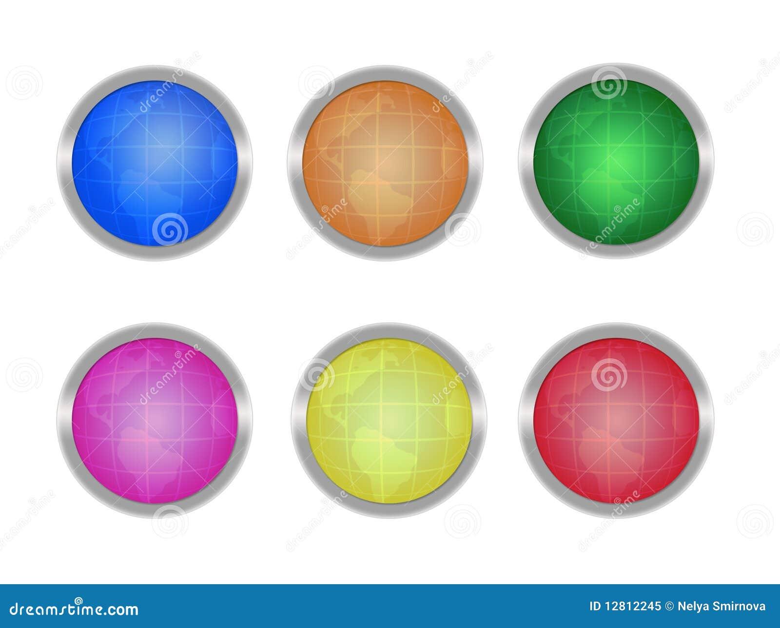 Teclas com globos