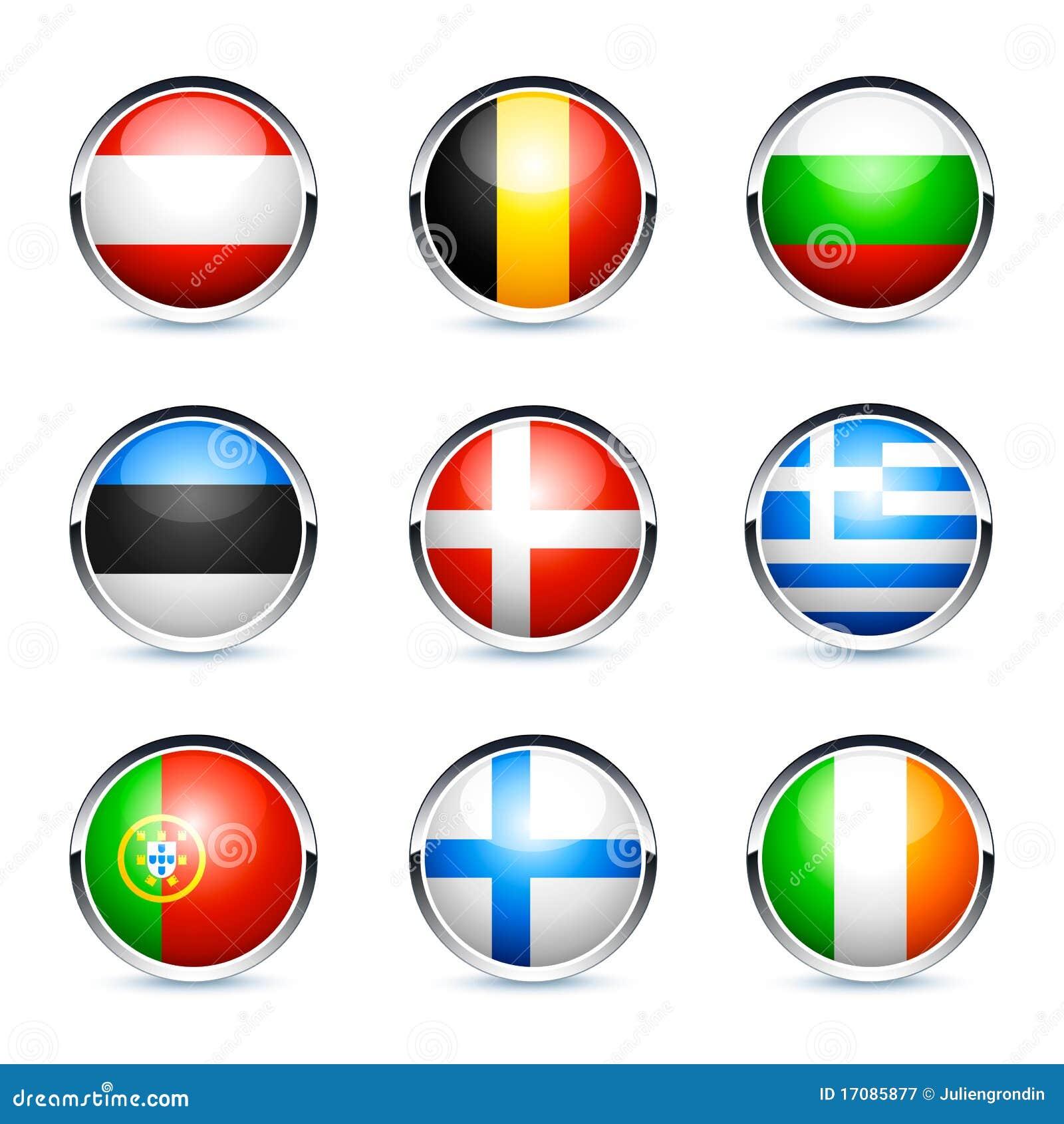 Teclas da bandeira de país europeu