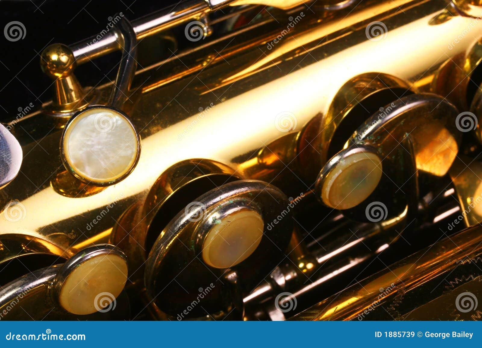Teclas do saxofone do vintage