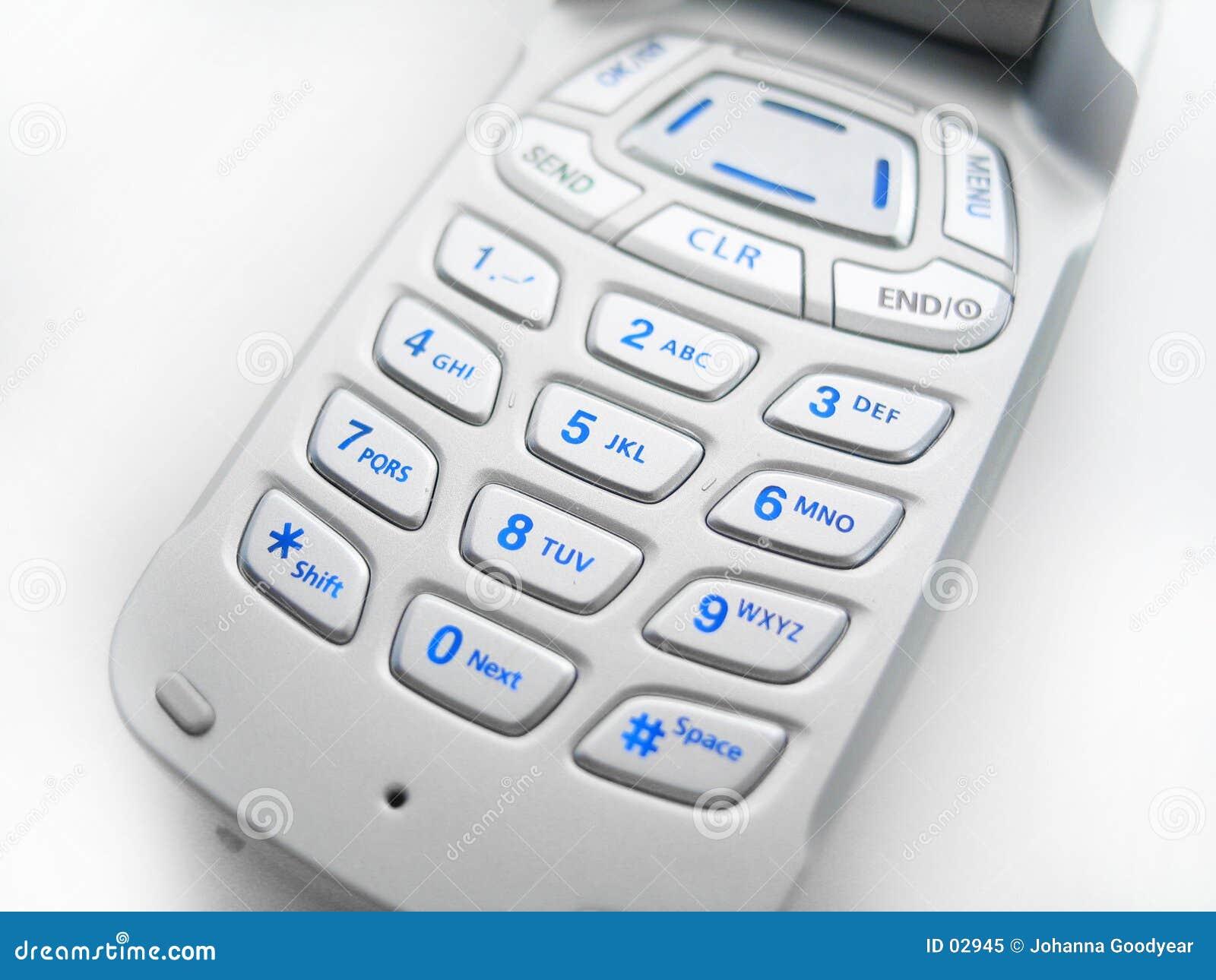 Teclas do telefone de pilha