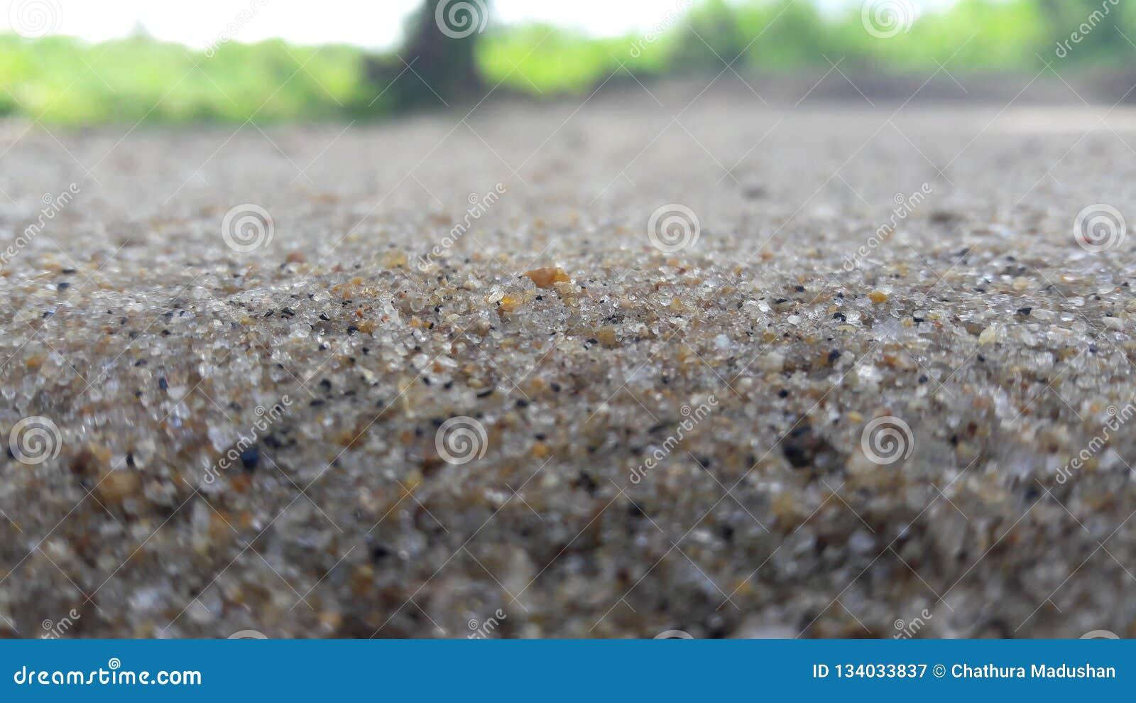 Tecleo de la arena en Ampara - Sri Lanka