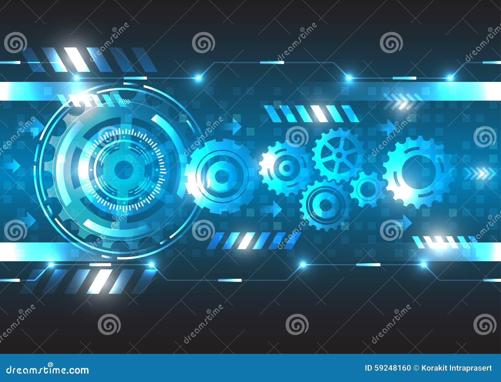 Tecnología abstracta del futuro de la ingeniería del vector