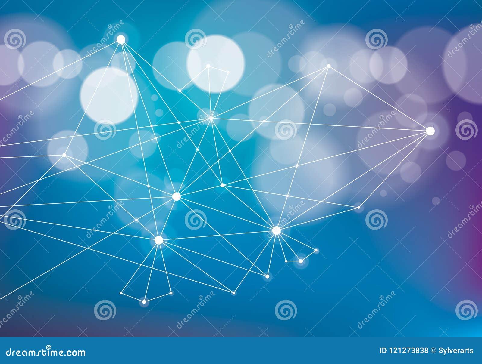 Tecnología caótica a de la malla de la comunicación de la conexión 3d del minimalismo