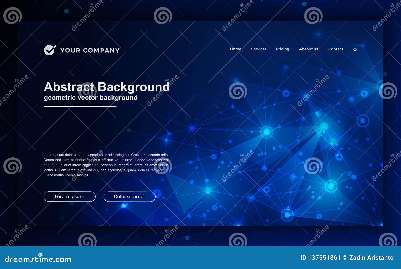 Tecnología, ciencia, fondo futurista para los diseños de la página web Extracto, fondo moderno para su diseño de aterrizaje de la