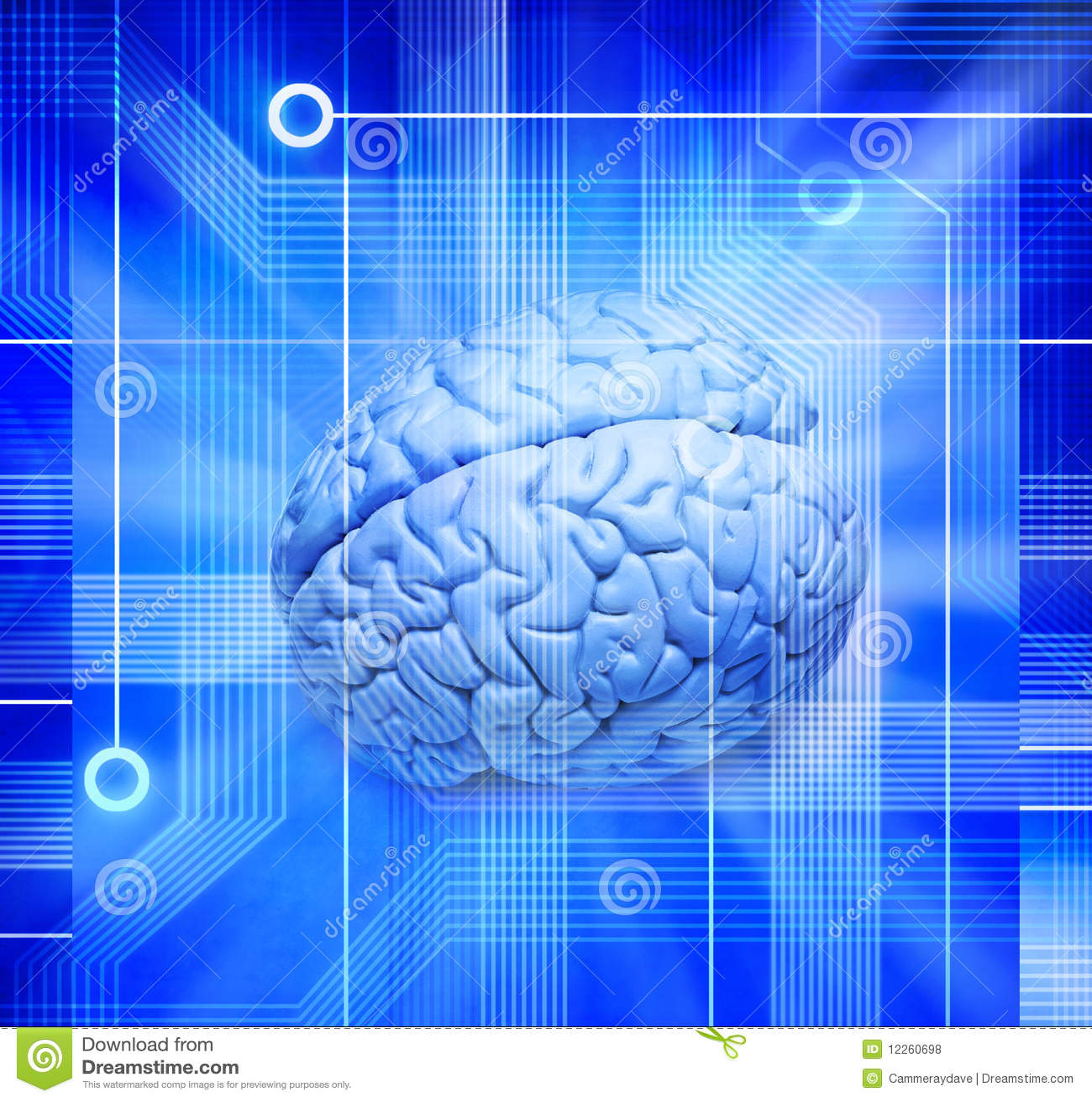 Tecnología del cerebro del ordenador