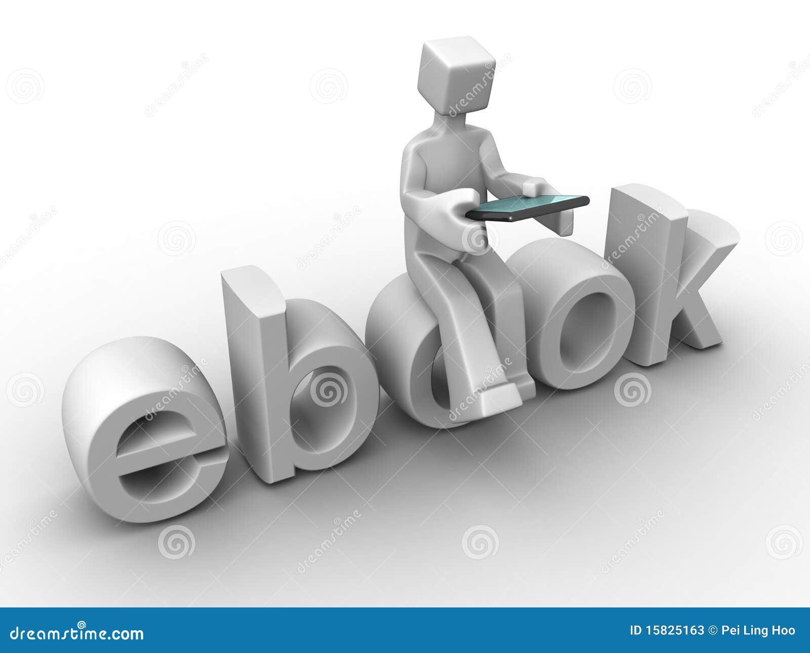 Tecnología y concepto digital del ebook