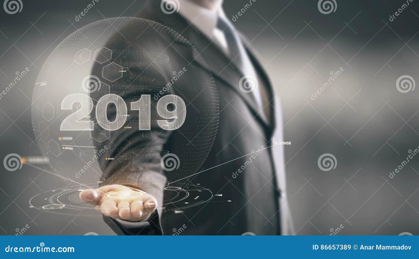 Tecnologias Disponibles 2019 De Holding Del Hombre De Negocios