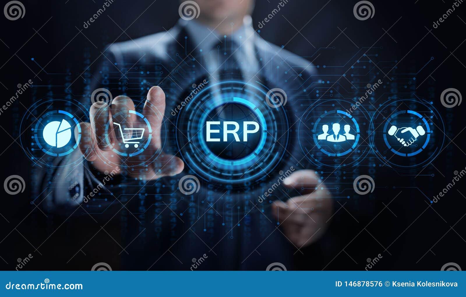 Tecnolog?a del negocio del software del sistema de planeamiento de los recursos de la empresa del ERP