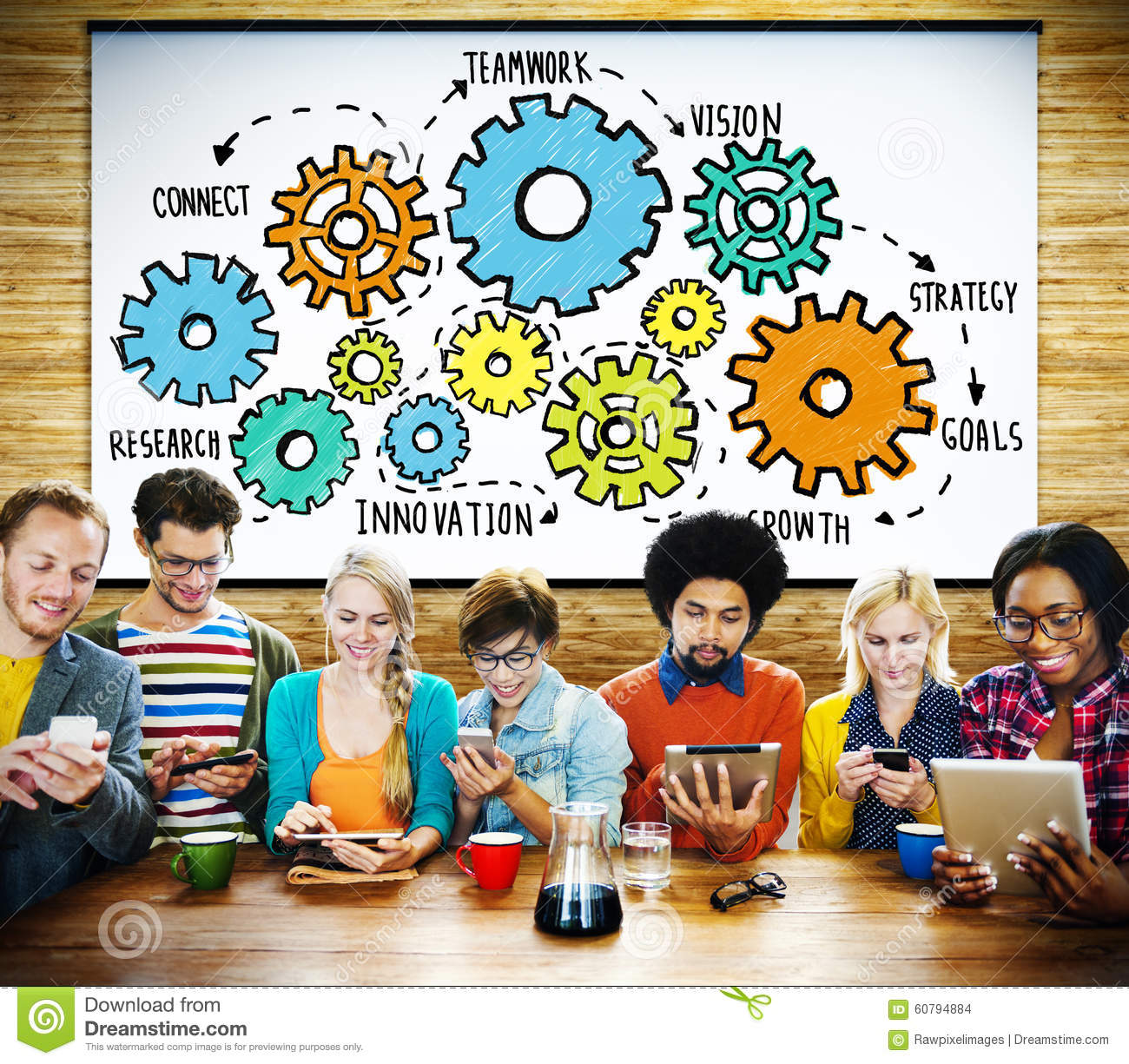 Tecnologia Conce di Team Functionality Industry Teamwork Connection