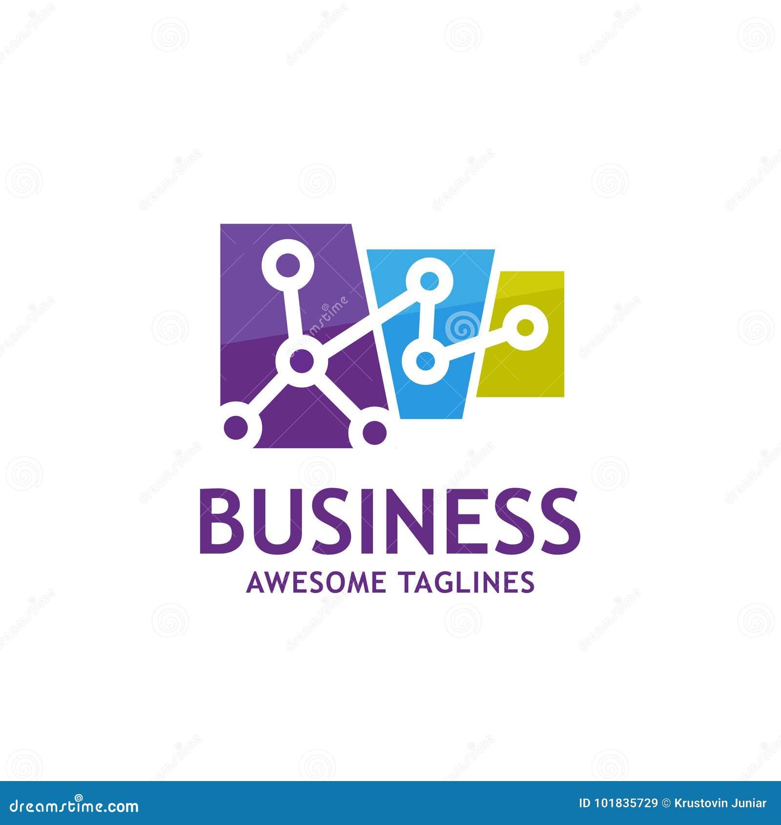 A tecnologia conecta o logotipo